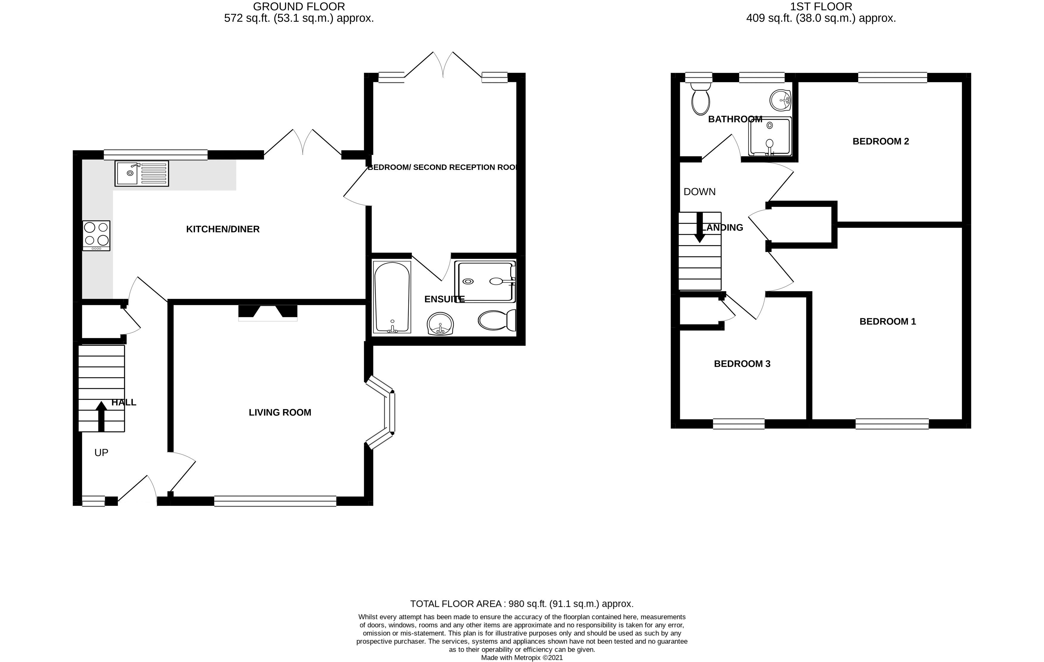 4 bed house for sale in Sherborne Road, Chichester - Property Floorplan
