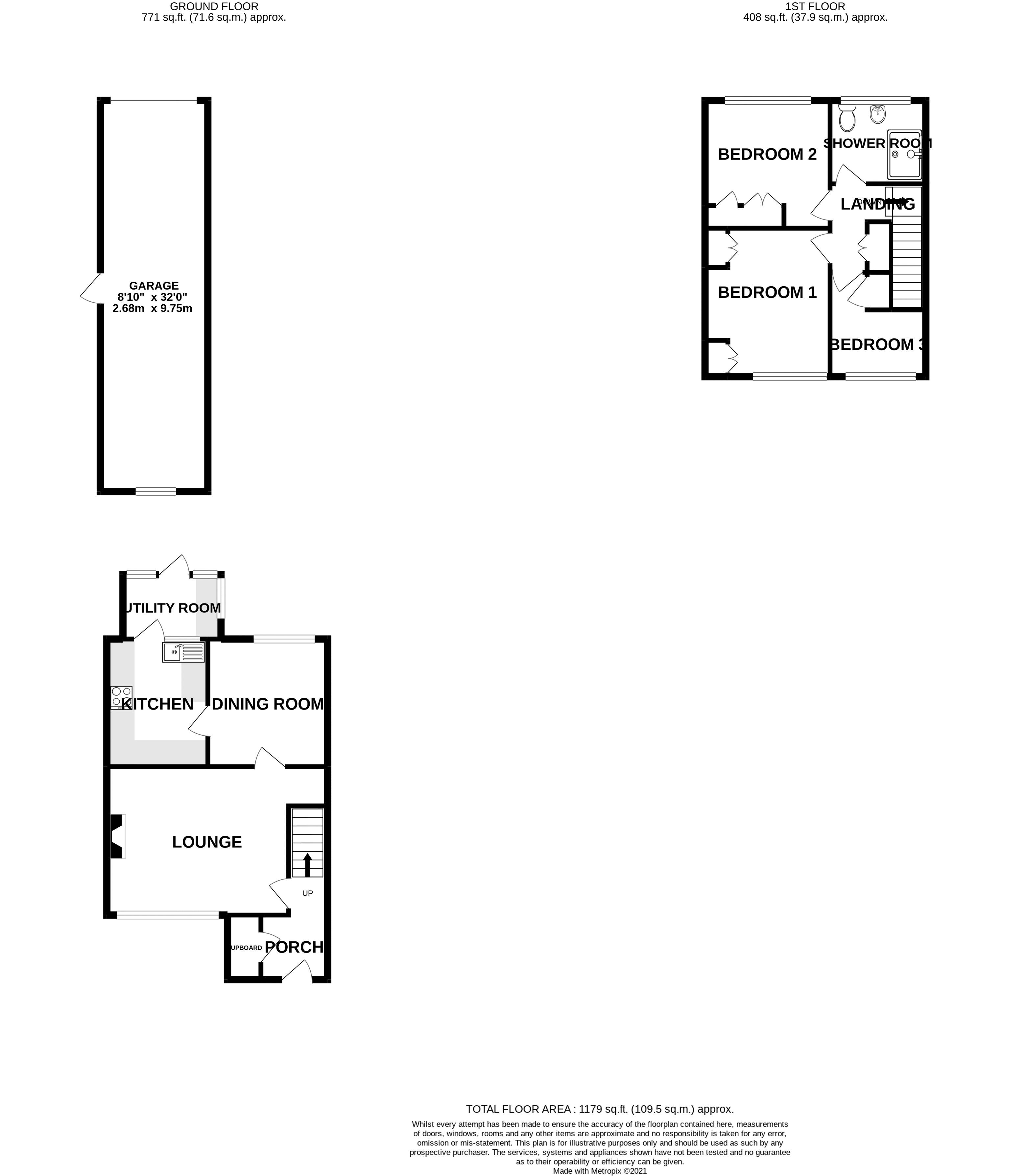 3 bed house for sale in Old Cottage Close, Chichester - Property Floorplan