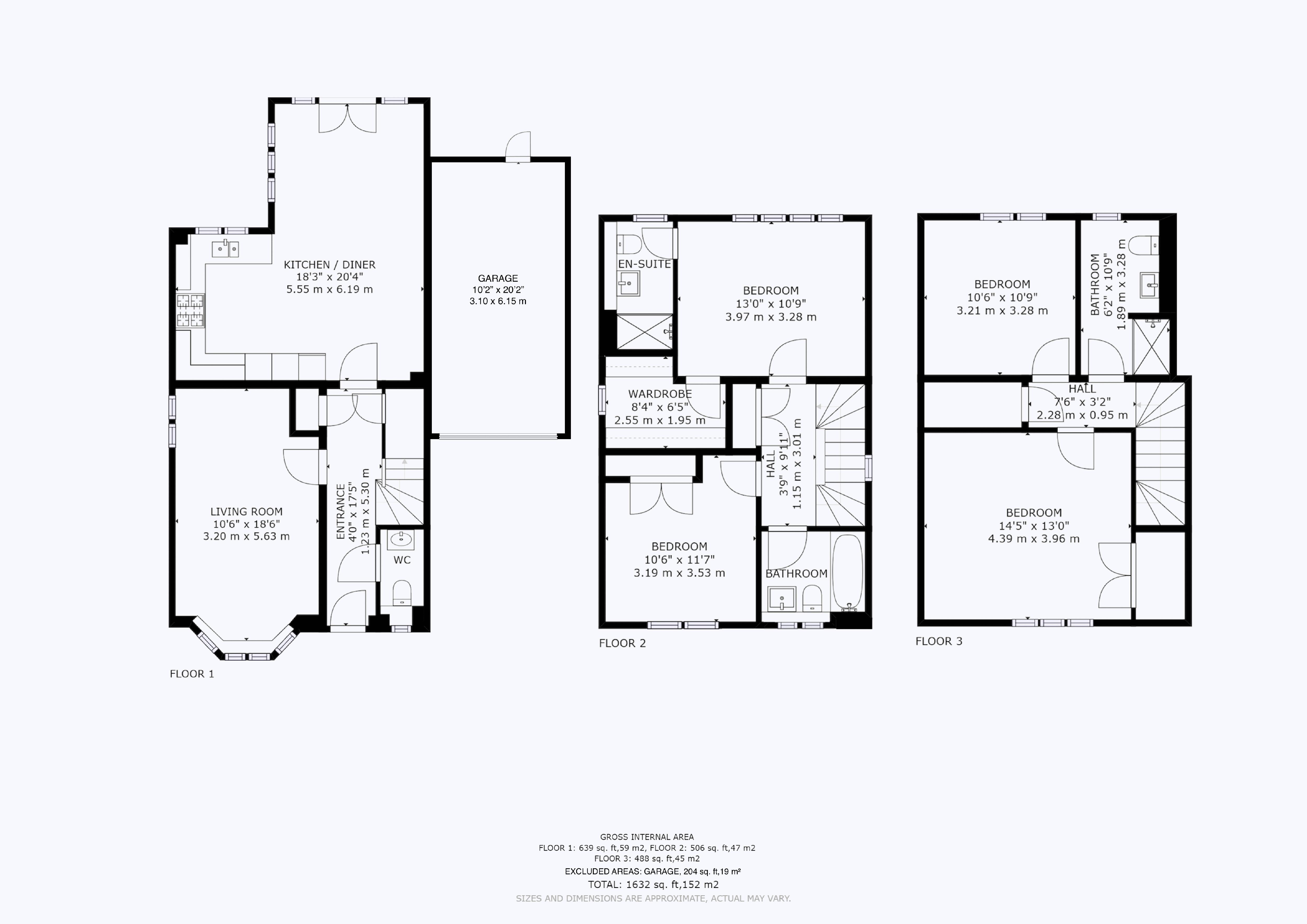 4 bed house for sale in Kingfisher Gardens, Chichester - Property Floorplan