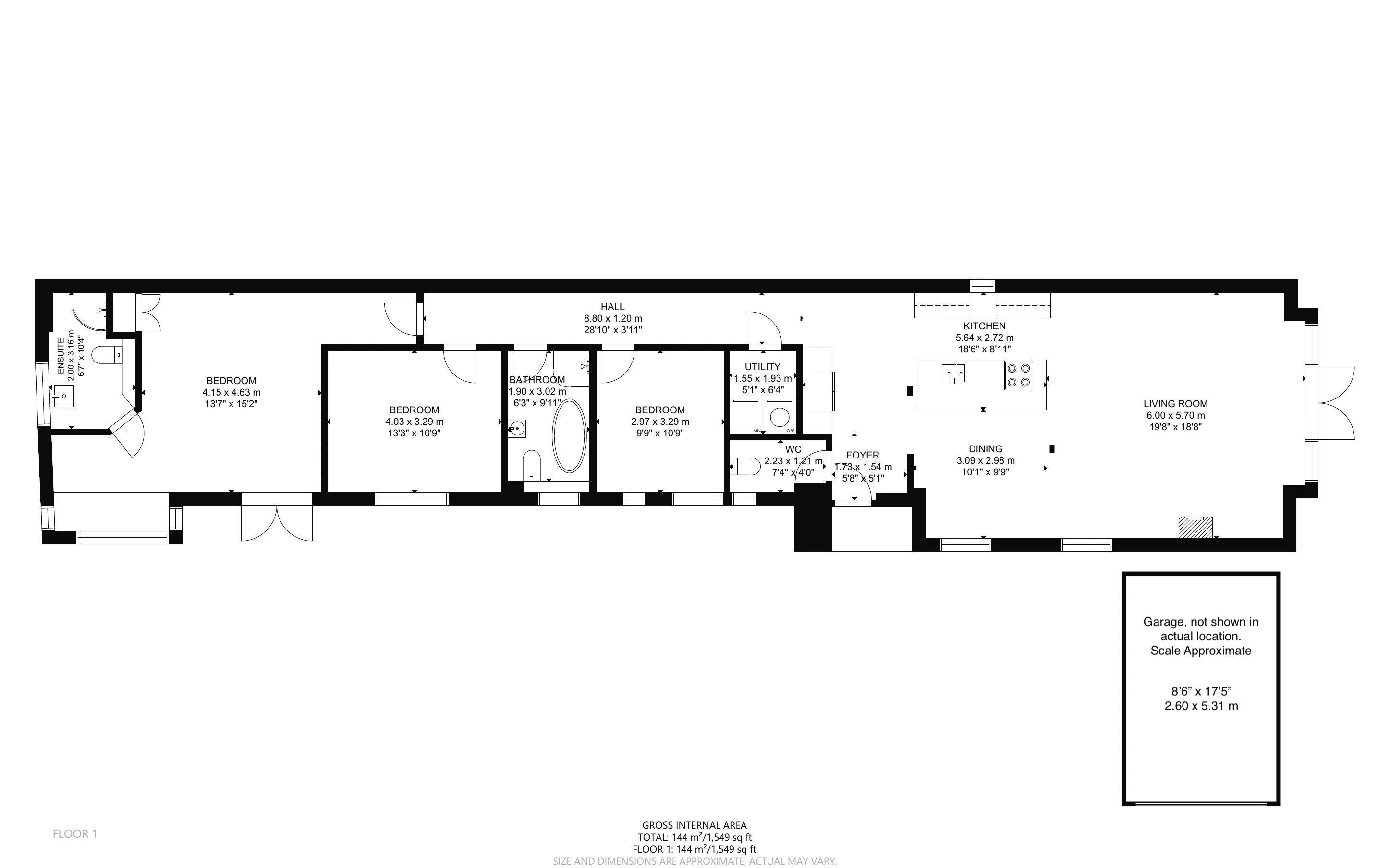 3 bed bungalow for sale, Chichester - Property Floorplan
