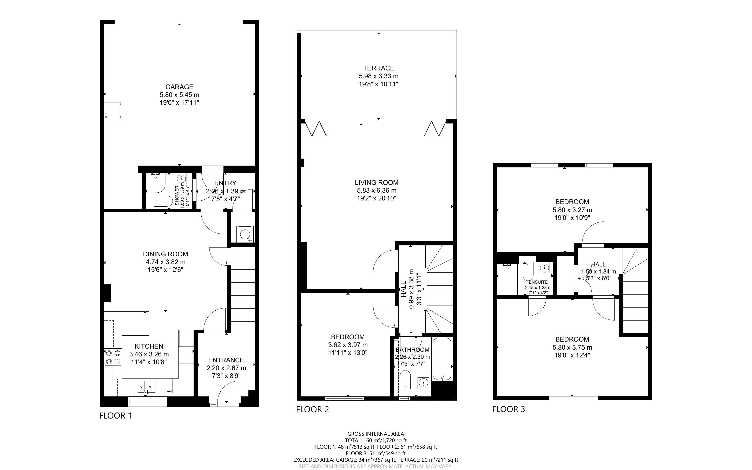 3 bed house for sale in Longley Road, Chichester - Property Floorplan