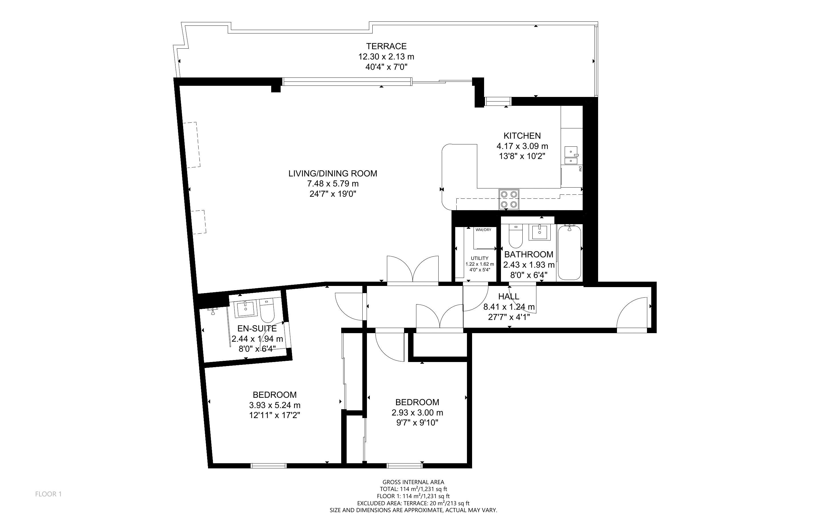 2 bed for sale in The Woolstaplers, Chichester - Property Floorplan