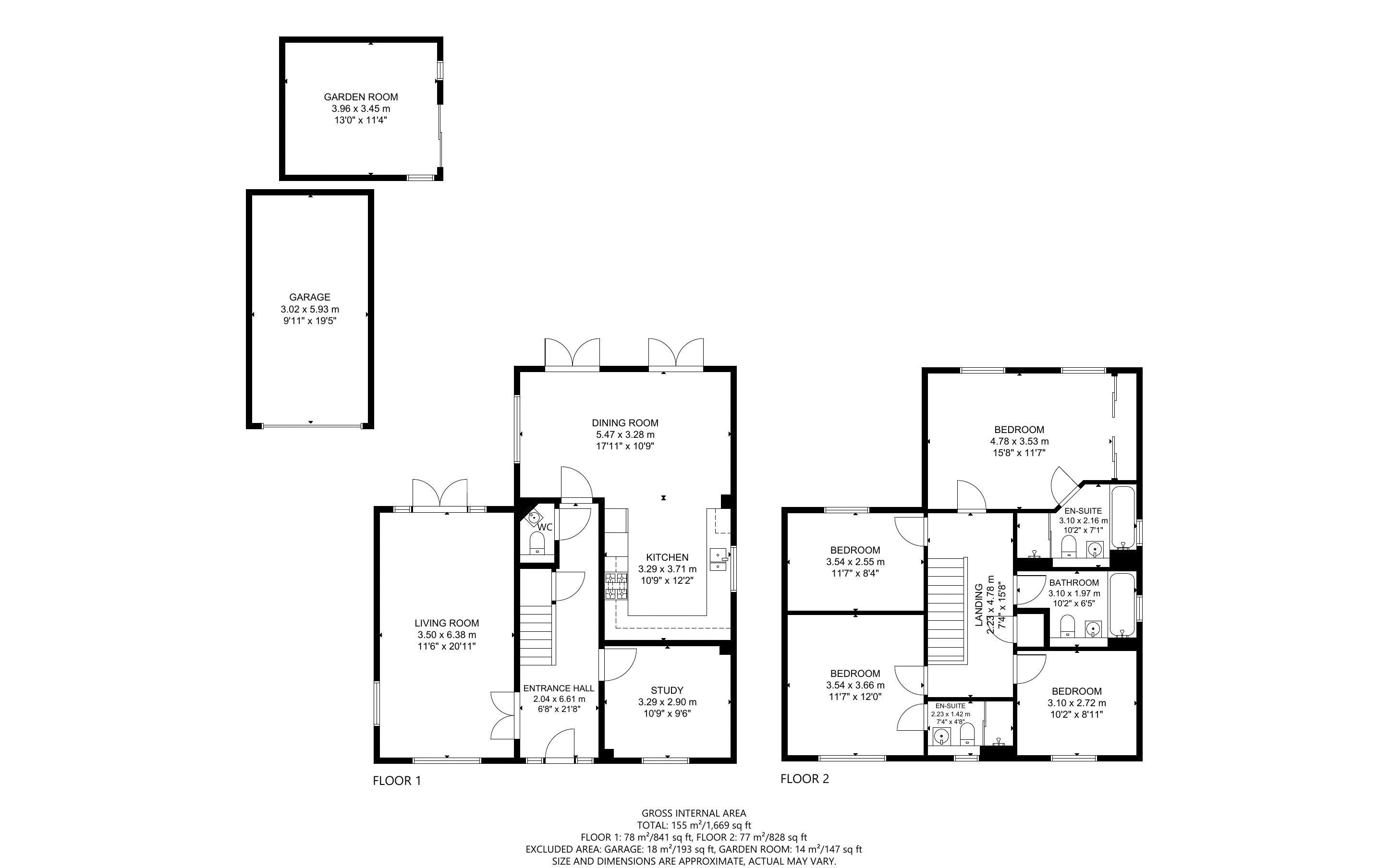 4 bed house for sale in Vesta Mews, Chichester - Property Floorplan