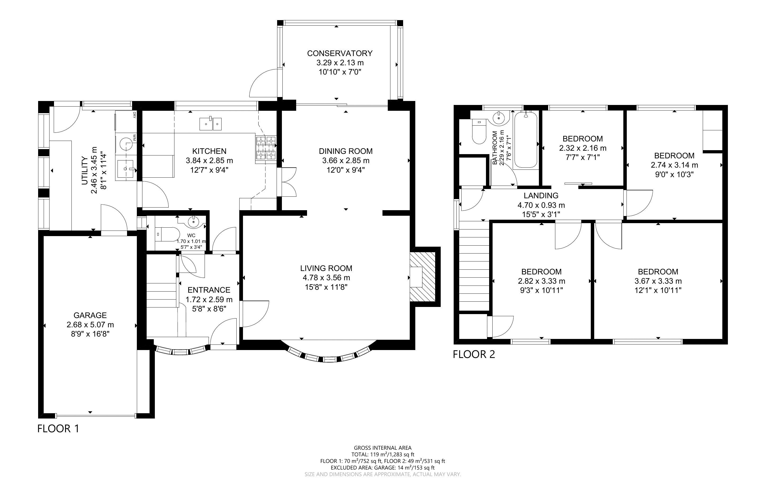 4 bed house for sale in Lincoln Green, Chichester - Property Floorplan