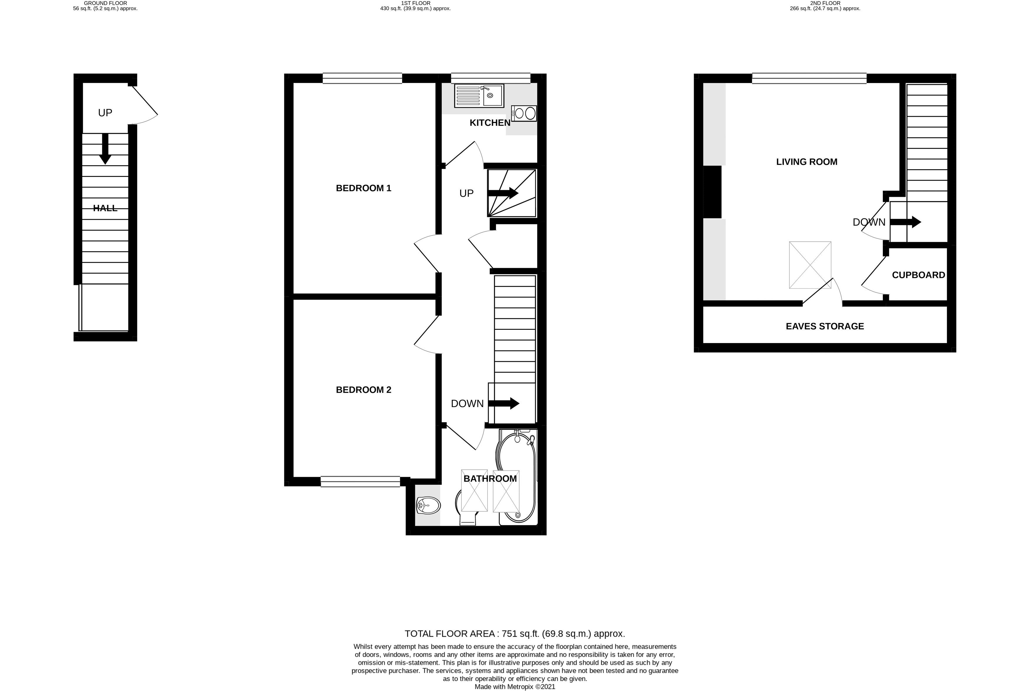 2 bed flat for sale in Littlefield Road, Chichester - Property Floorplan