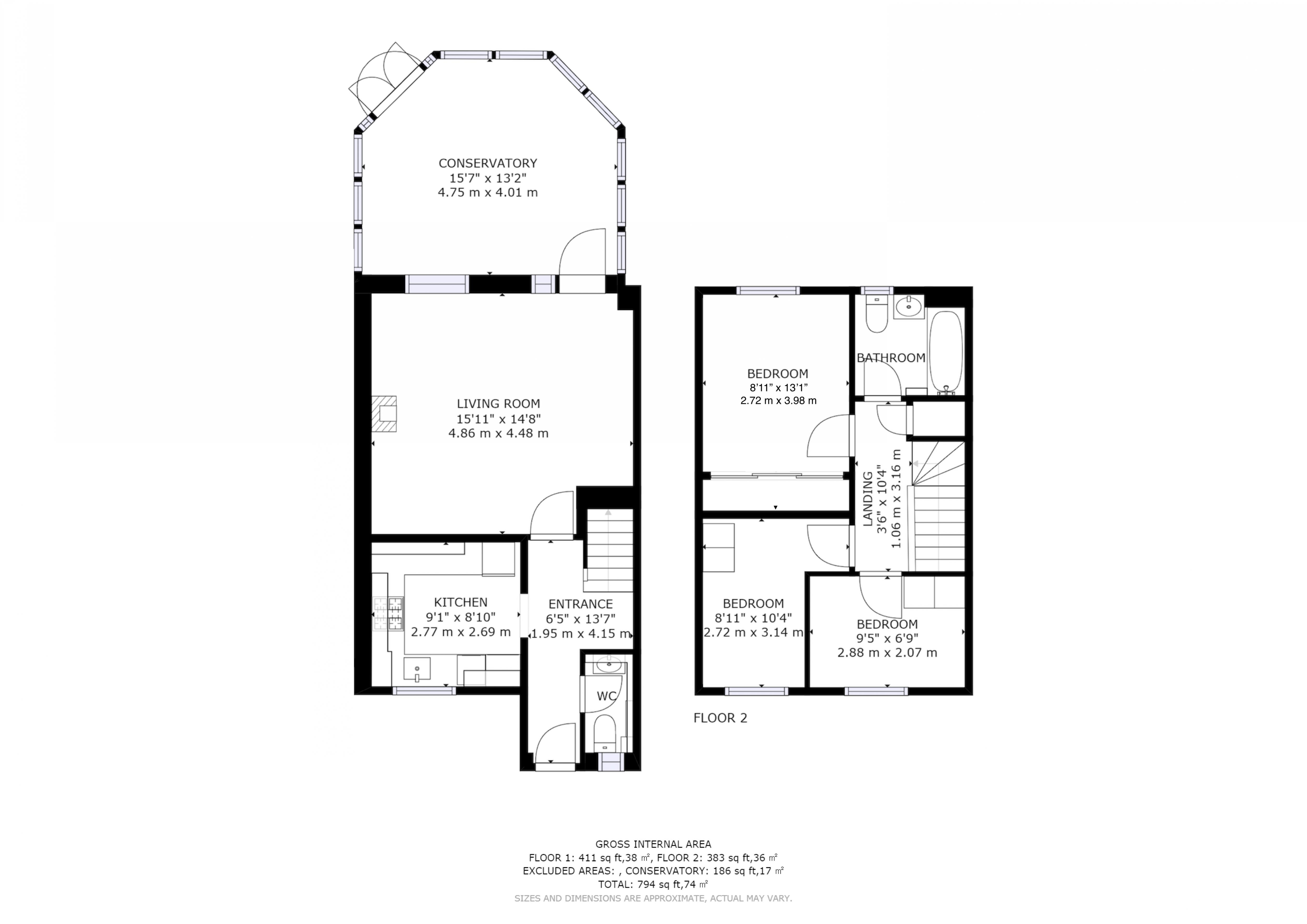 3 bed house for sale in Salthill Road, Chichester - Property Floorplan