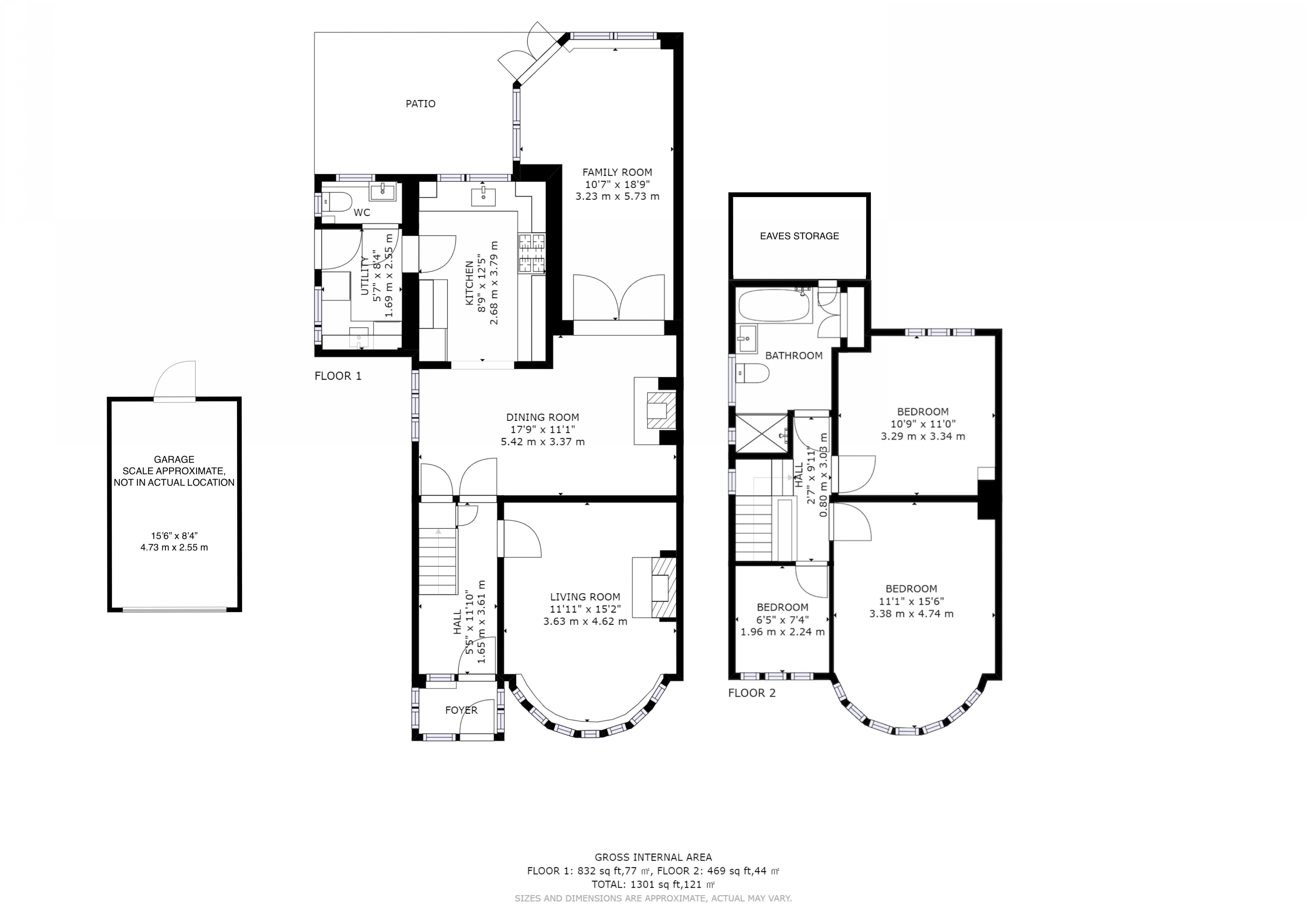 3 bed house for sale in Willowbed Drive, Chichester - Property Floorplan