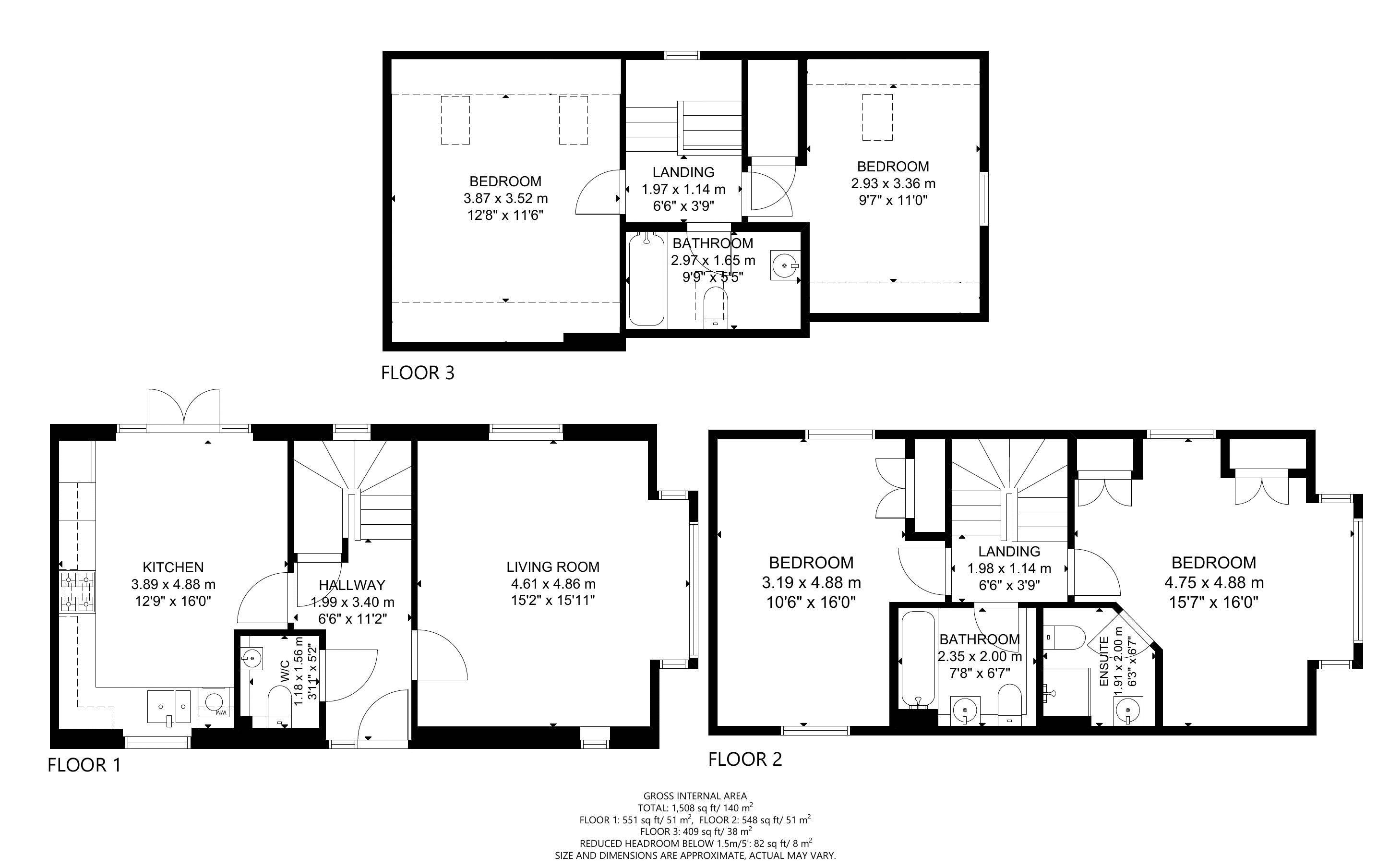4 bed house for sale in Pears Grove, Emsworth - Property Floorplan