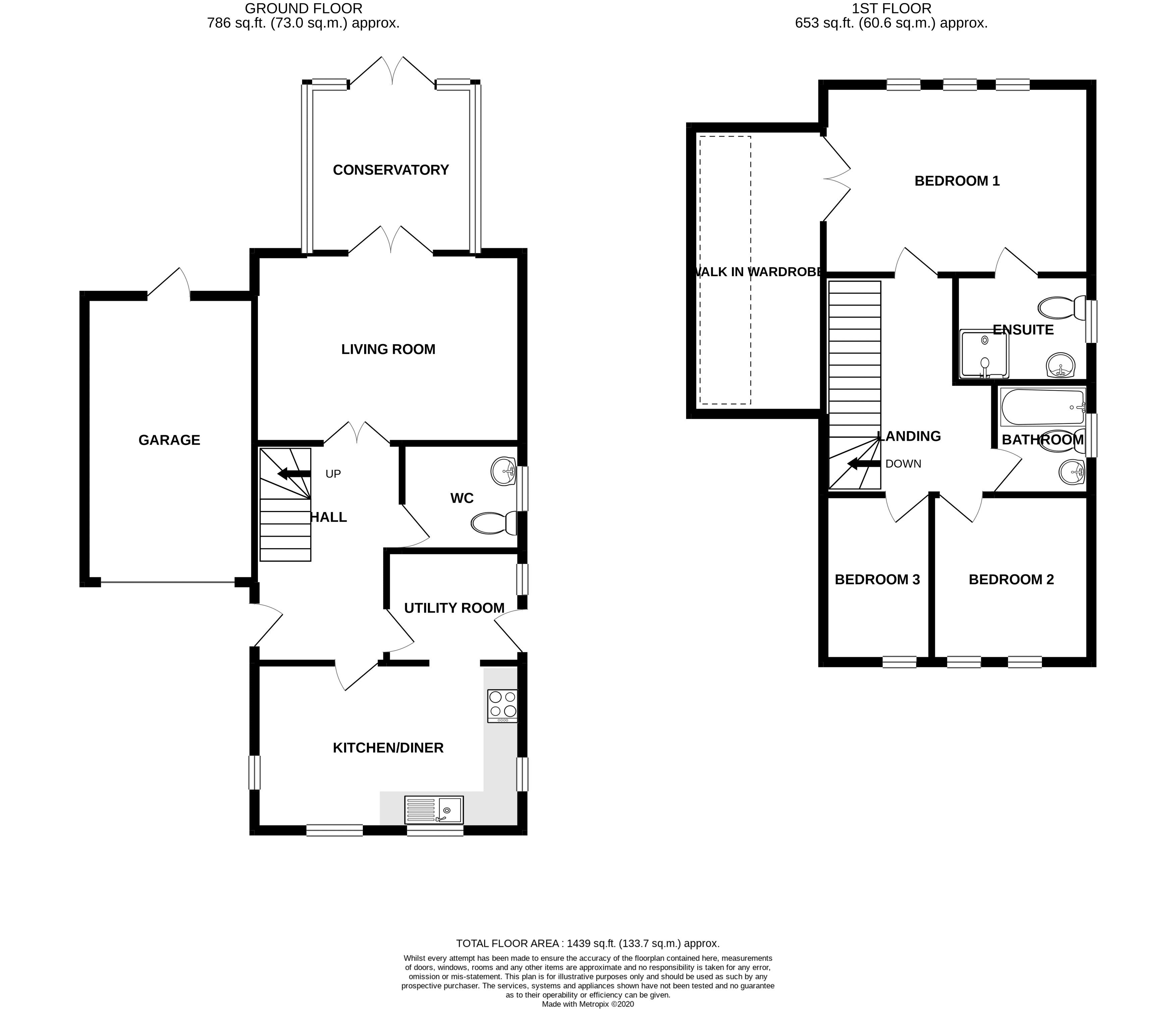 3 bed house for sale in Waterside Drive, Chichester - Property Floorplan