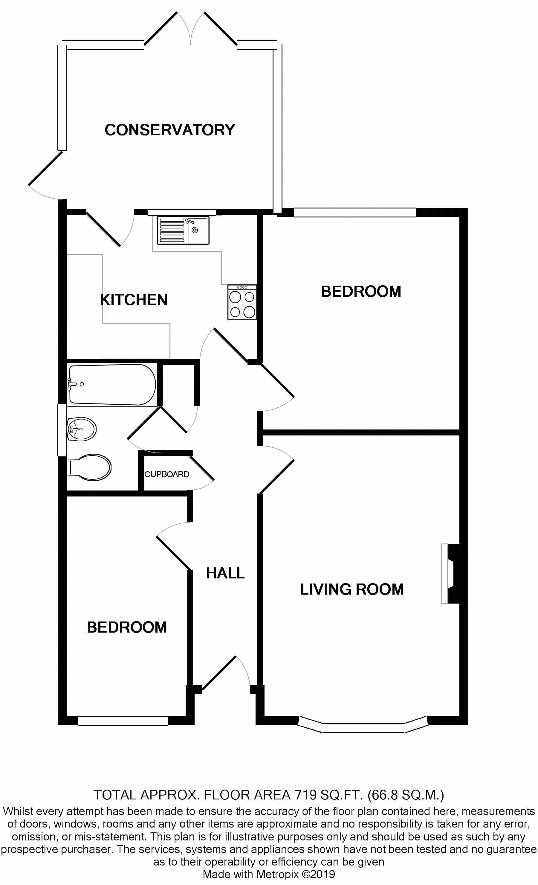 2 bed bungalow for sale in Tangmere Gardens, Bognor Regis - Property Floorplan