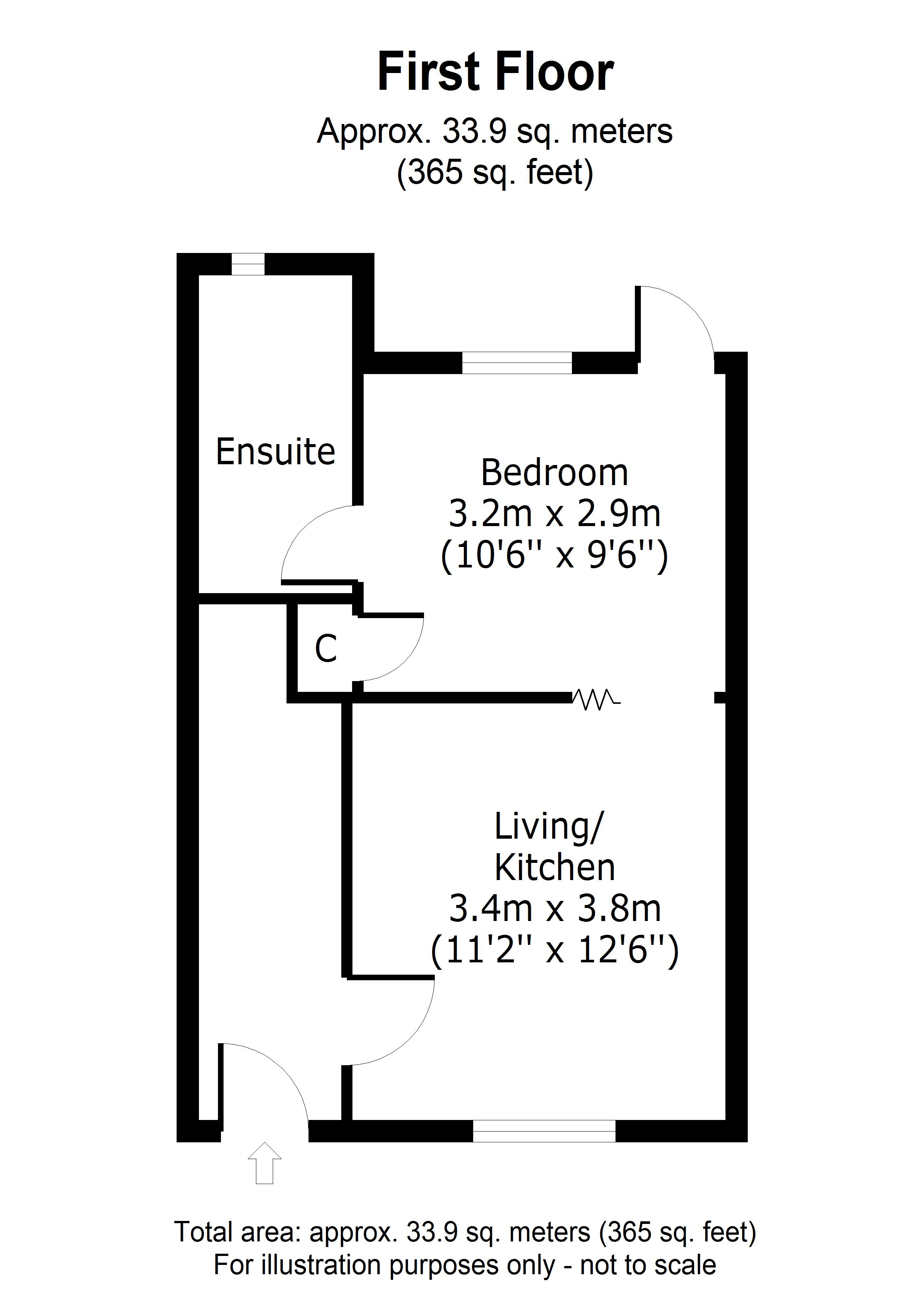 1 bed flat for sale in Boxley Road, Maidstone - Property Floorplan