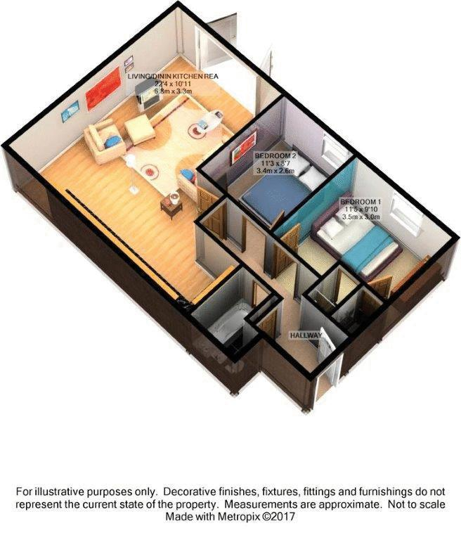 2 bed flat for sale in Buckland Rise, Maidstone - Property Floorplan