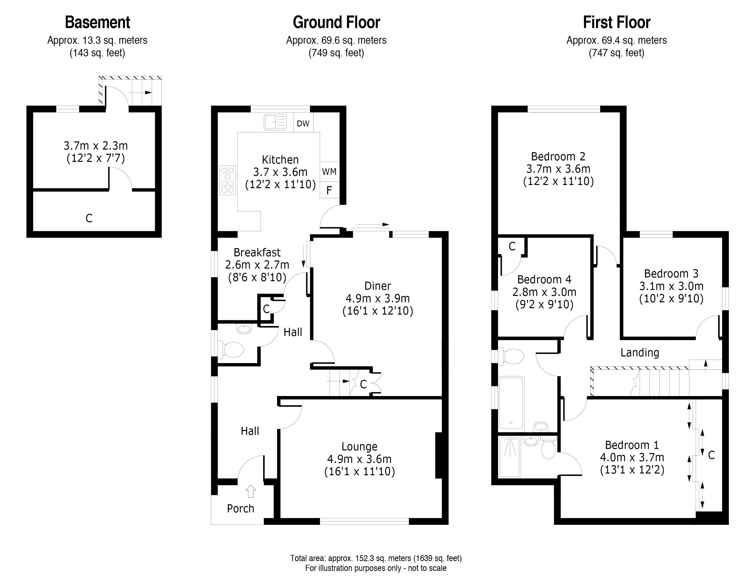 4 bed house for sale in Tonbridge Road, Maidstone - Property Floorplan