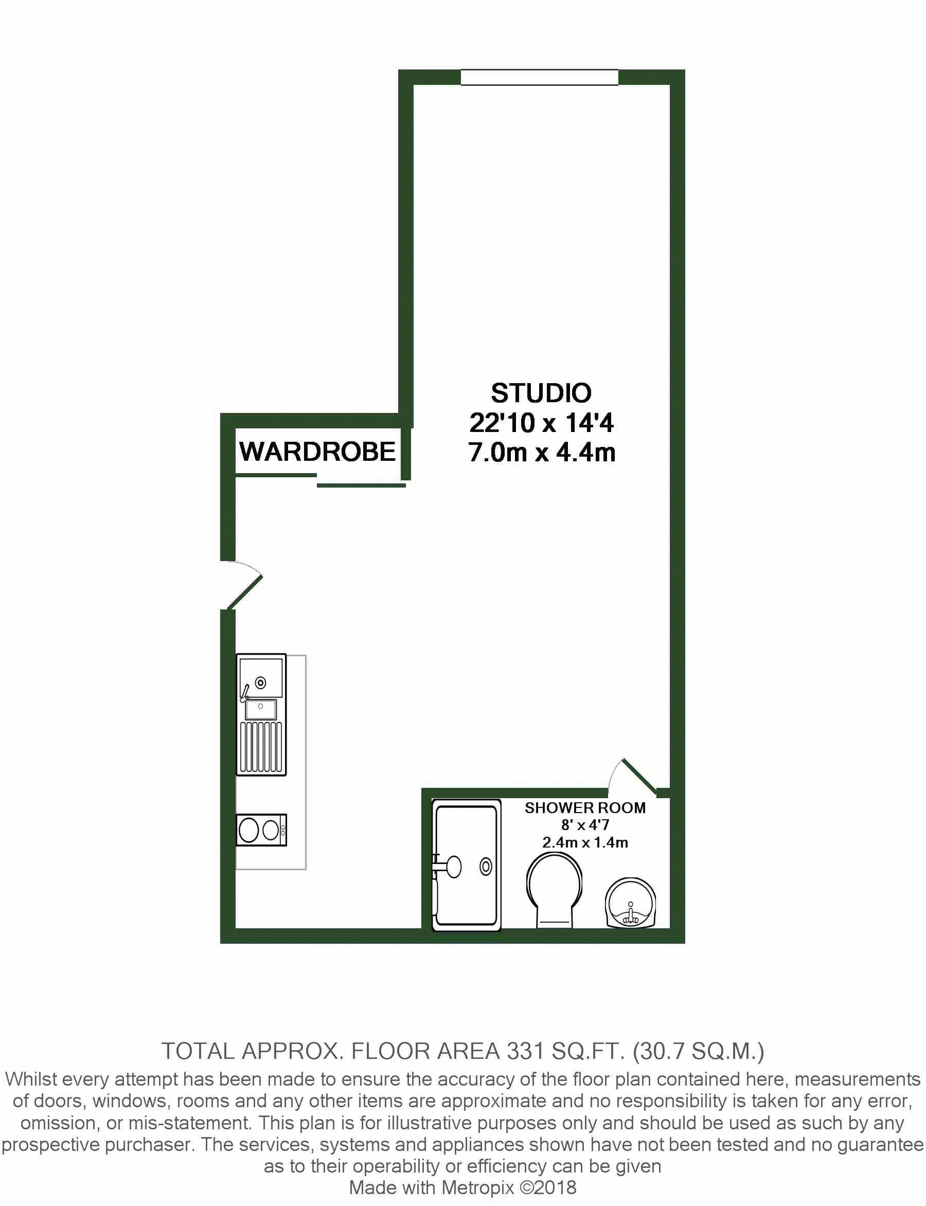 Flat to rent in Brenchley House, Week Street, Maidstone - Property Floorplan