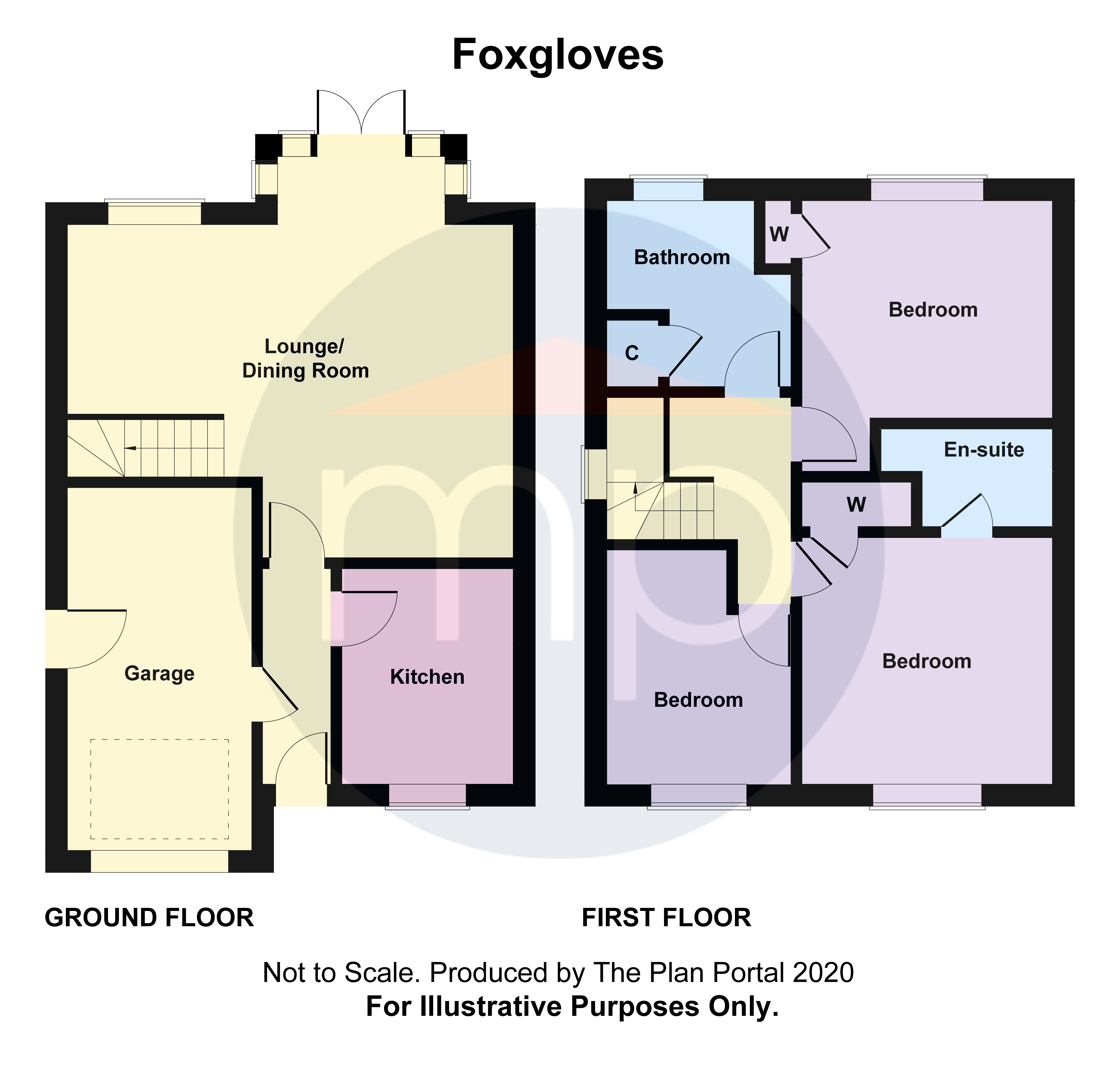 3 bed house for sale in Foxgloves, Coulby Newham - Property Floorplan