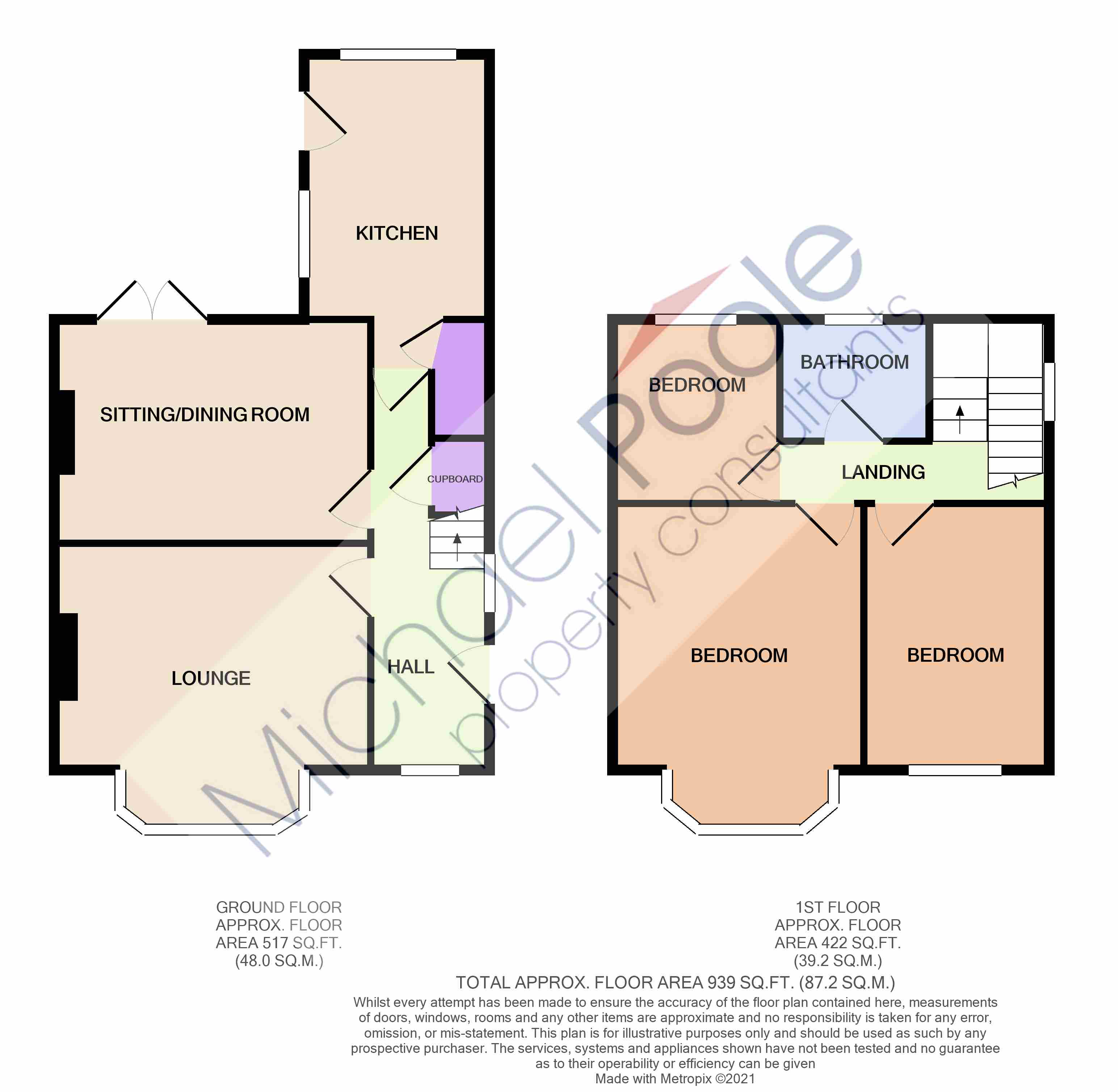 3 bed house for sale in Benton Road, Tollesby - Property Floorplan