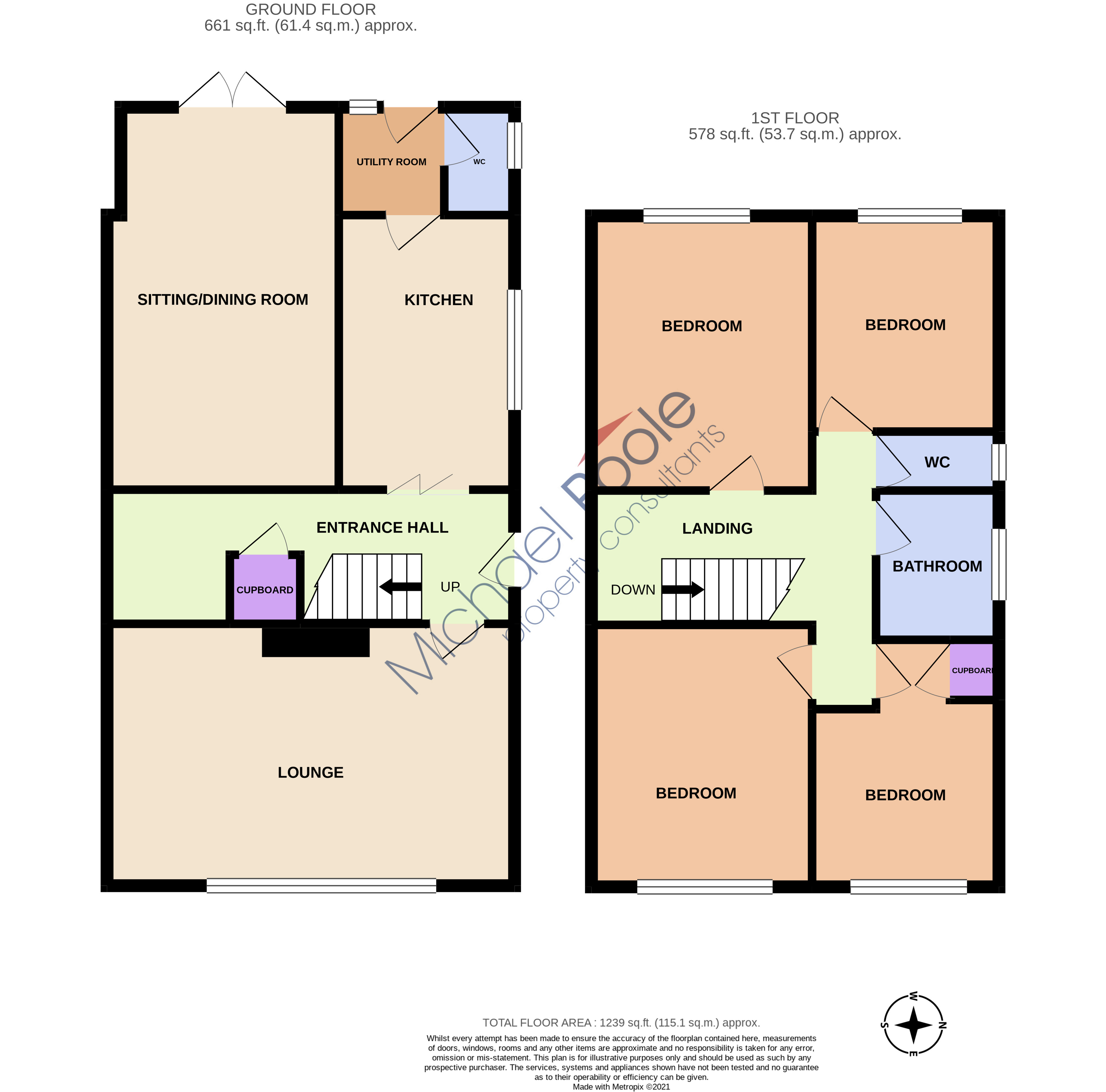 4 bed house for sale in Oldford Crescent, Acklam - Property Floorplan