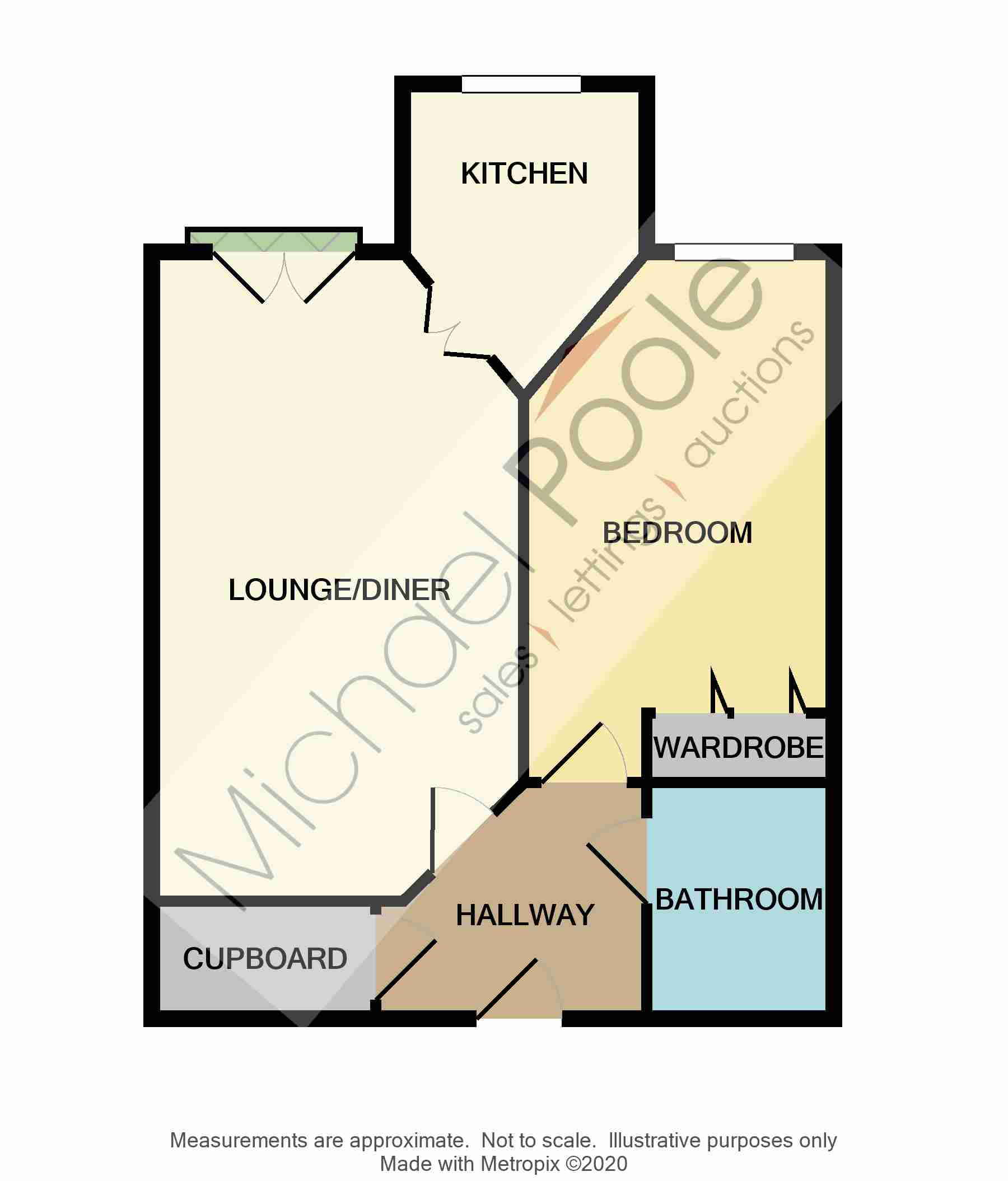 1 bed for sale in The Avenue, Eaglescliffe - Property Floorplan