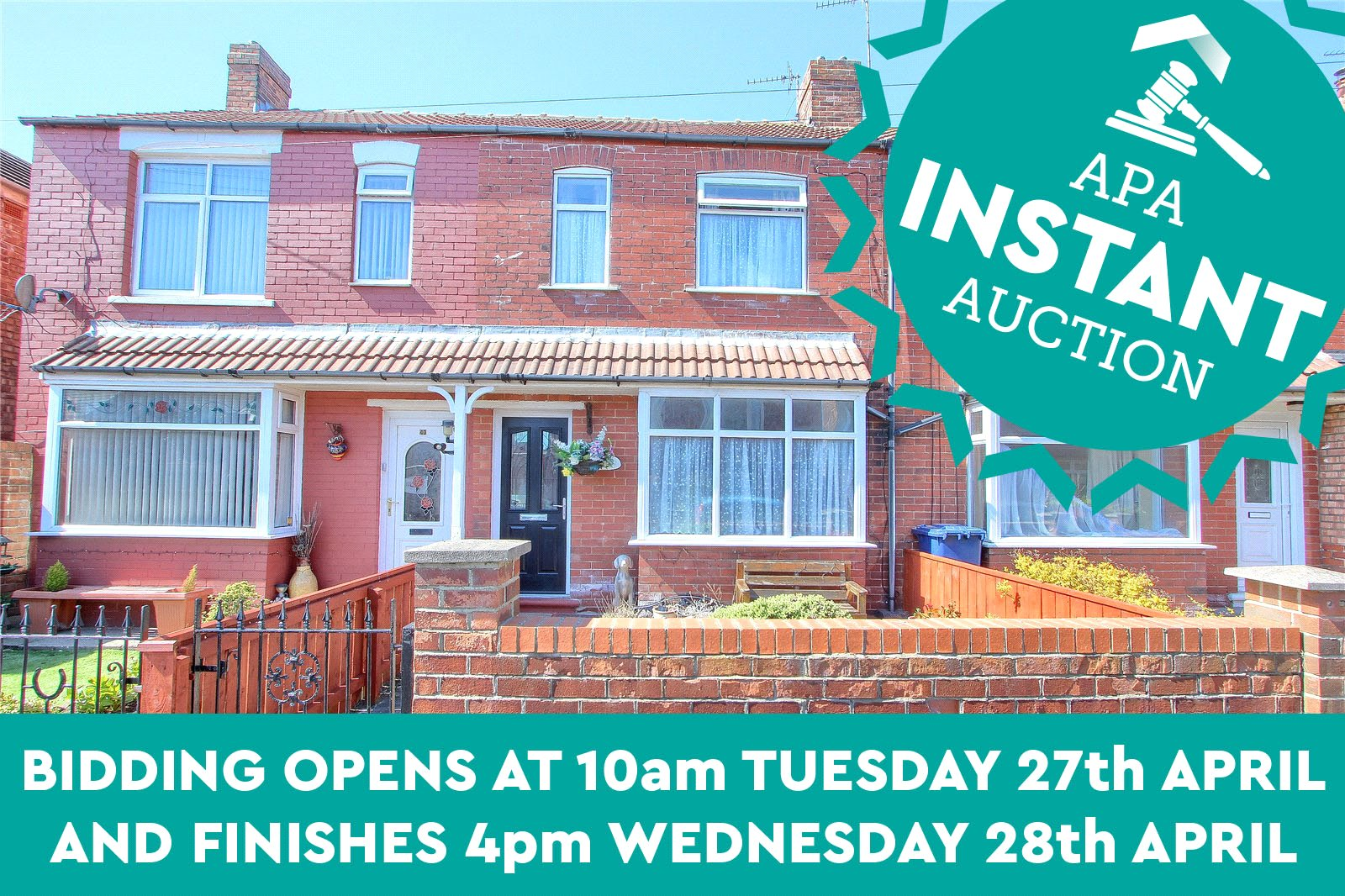 3 bed house for sale in William Street, Redcar 1