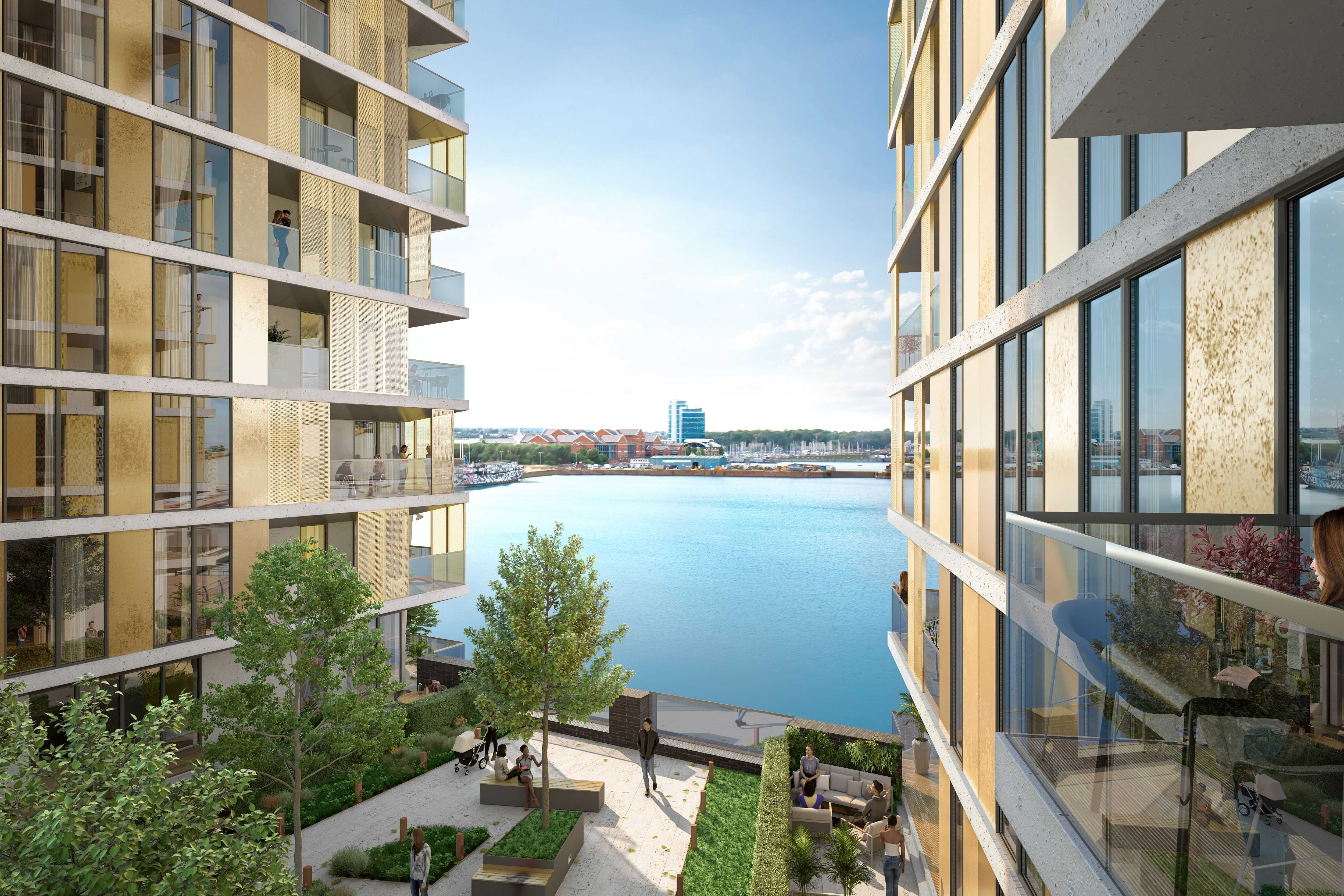 1 bed flat for sale in Chatham Waters Pier Approach Road, Gillingham, ME7
