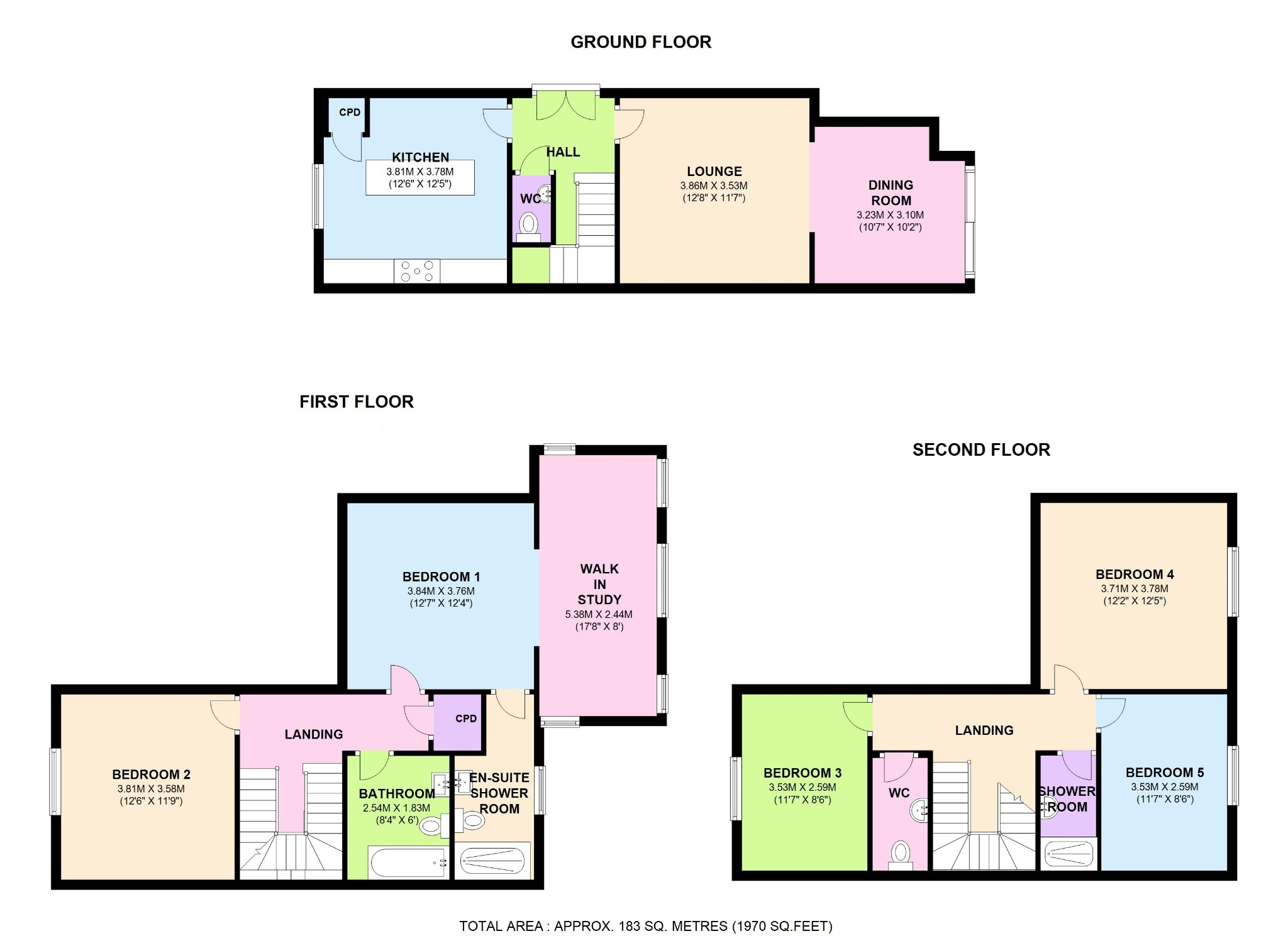 5 bed semi-detached house for sale in West Cadets Apartments, The Acadamy, Langhorne Street, London - Property Floorplan