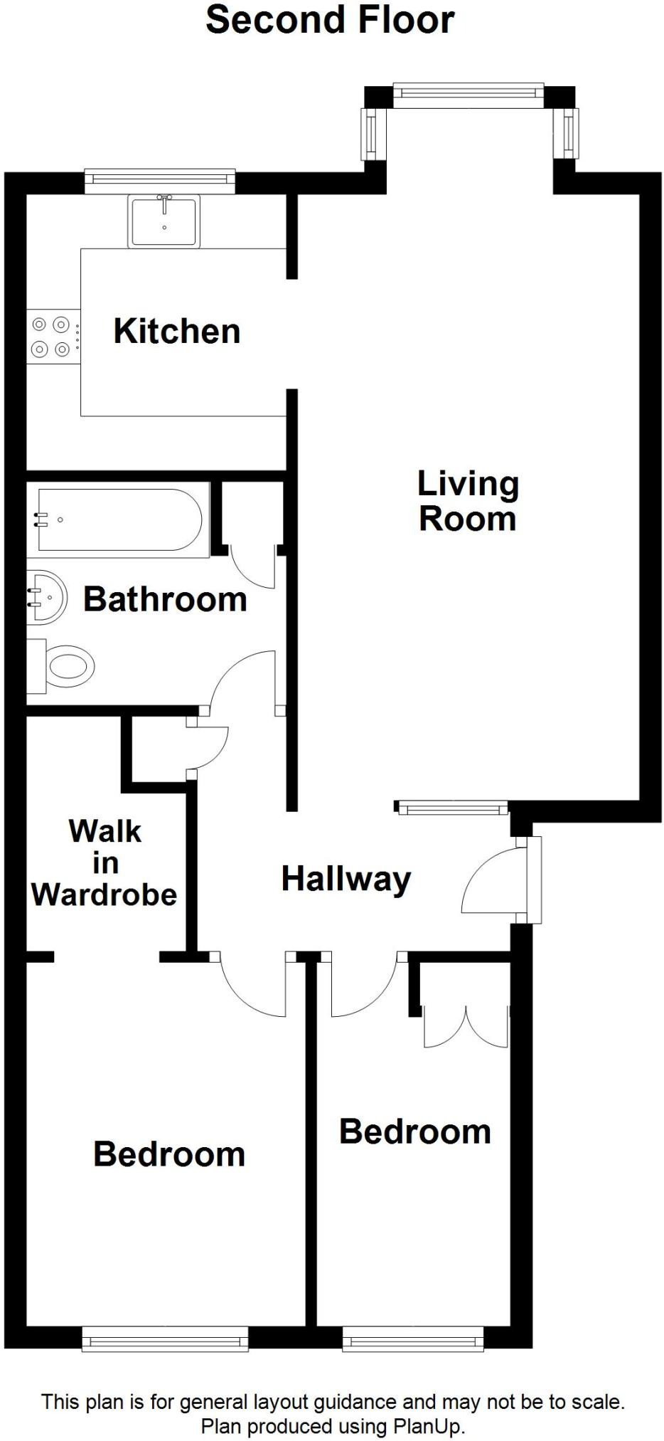 2 bed apartment for sale in Garrison Close, Shooters Hill - Property Floorplan