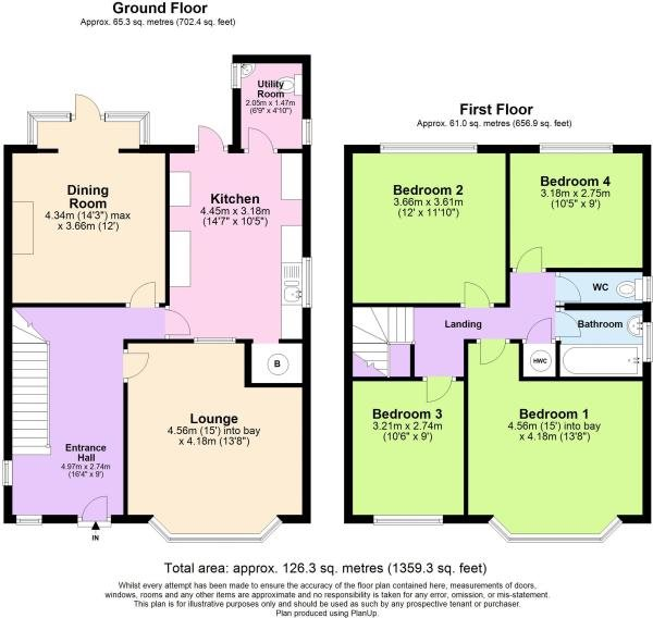 4 bed house for sale in Guildhill Road, Southbourne - Property Floorplan