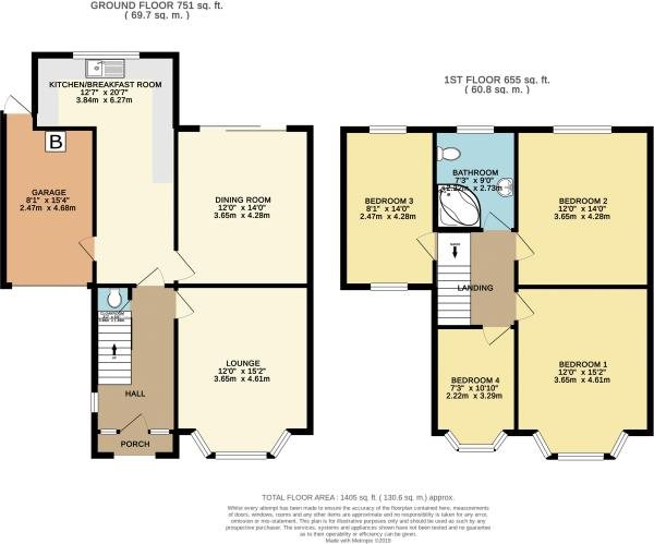 4 bed house for sale in Northbourne Avenue, Bournemouth - Property Floorplan