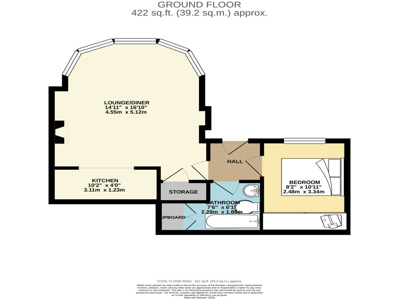 1 bed flat for sale in 8 Suffolk Road, Bournemouth - Property Floorplan