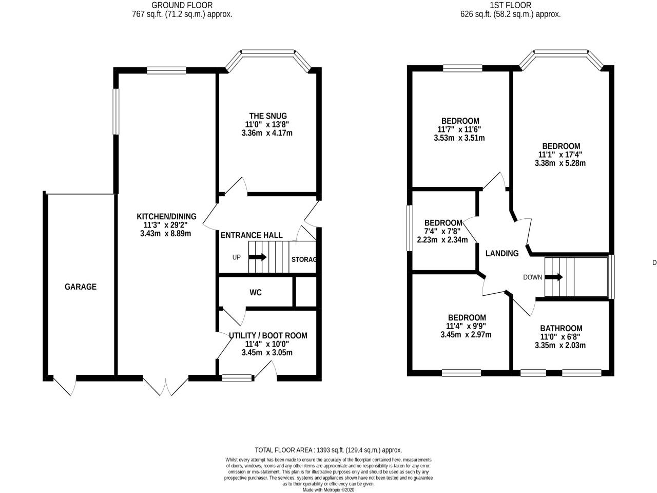 4 bed detached house for sale in Truscott Avenue, Bournemouth - Property Floorplan