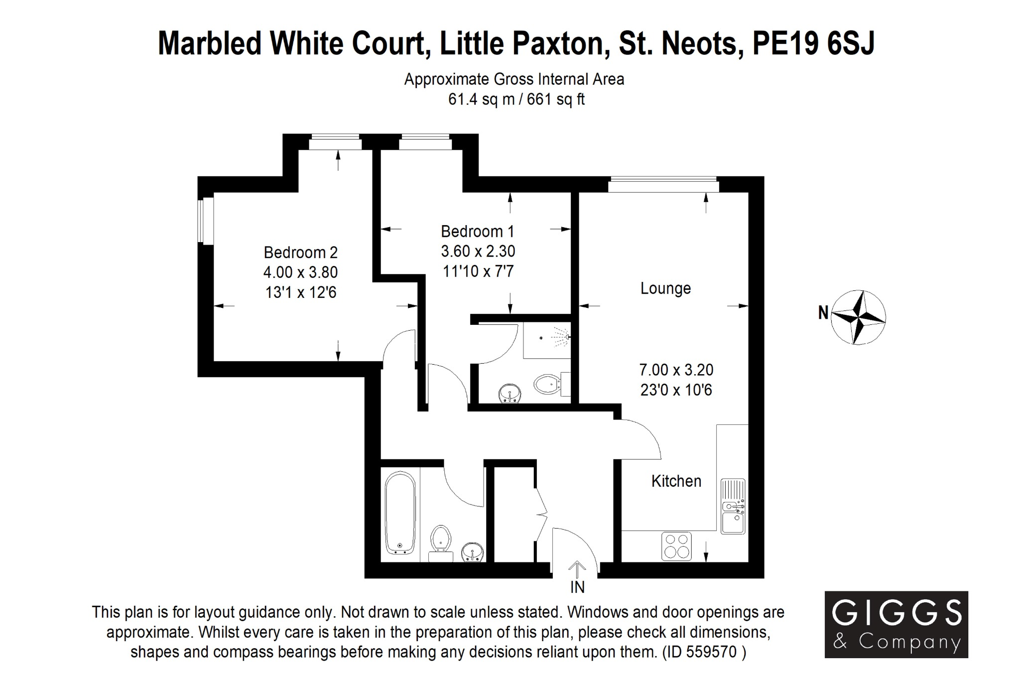 2 bed apartment for sale in Marbled White Court, St. Neots - Property Floorplan