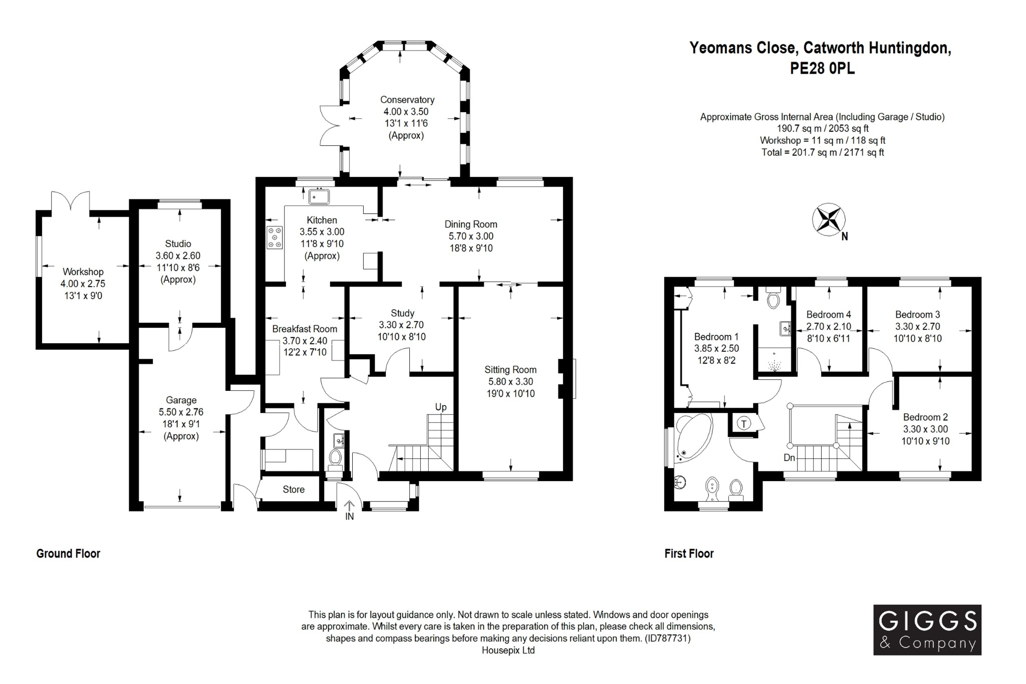 4 bed detached house for sale in Yeomans Close, Huntingdon - Property Floorplan