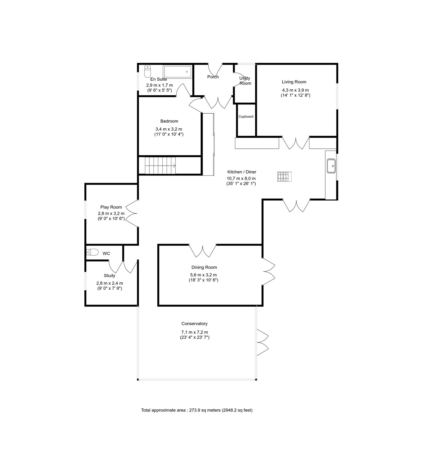 4 bed house for sale in Heathbrow Road, Old Welwyn - Property Floorplan