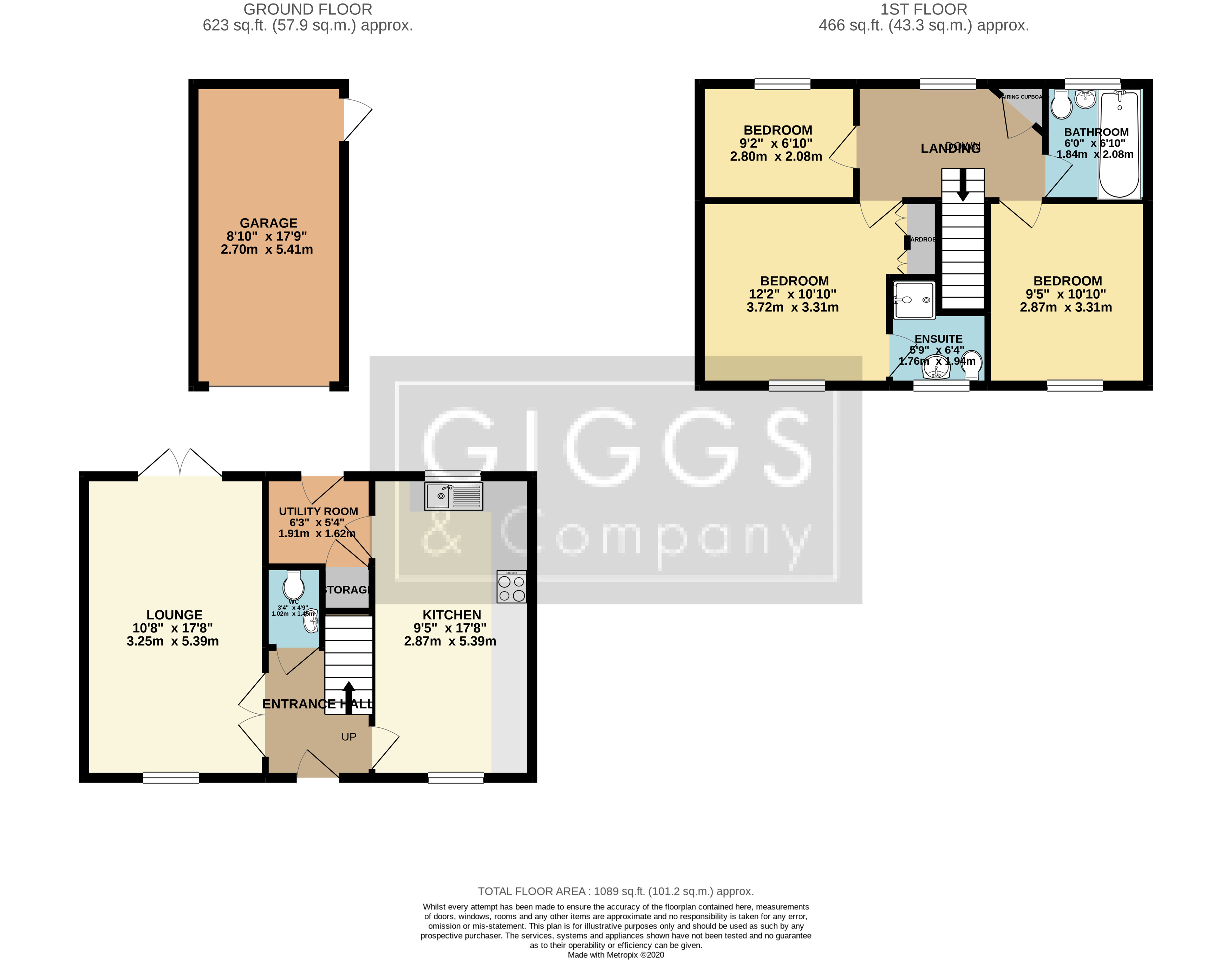3 bed house for sale in Lannesbury Crescent, St Neots - Property Floorplan