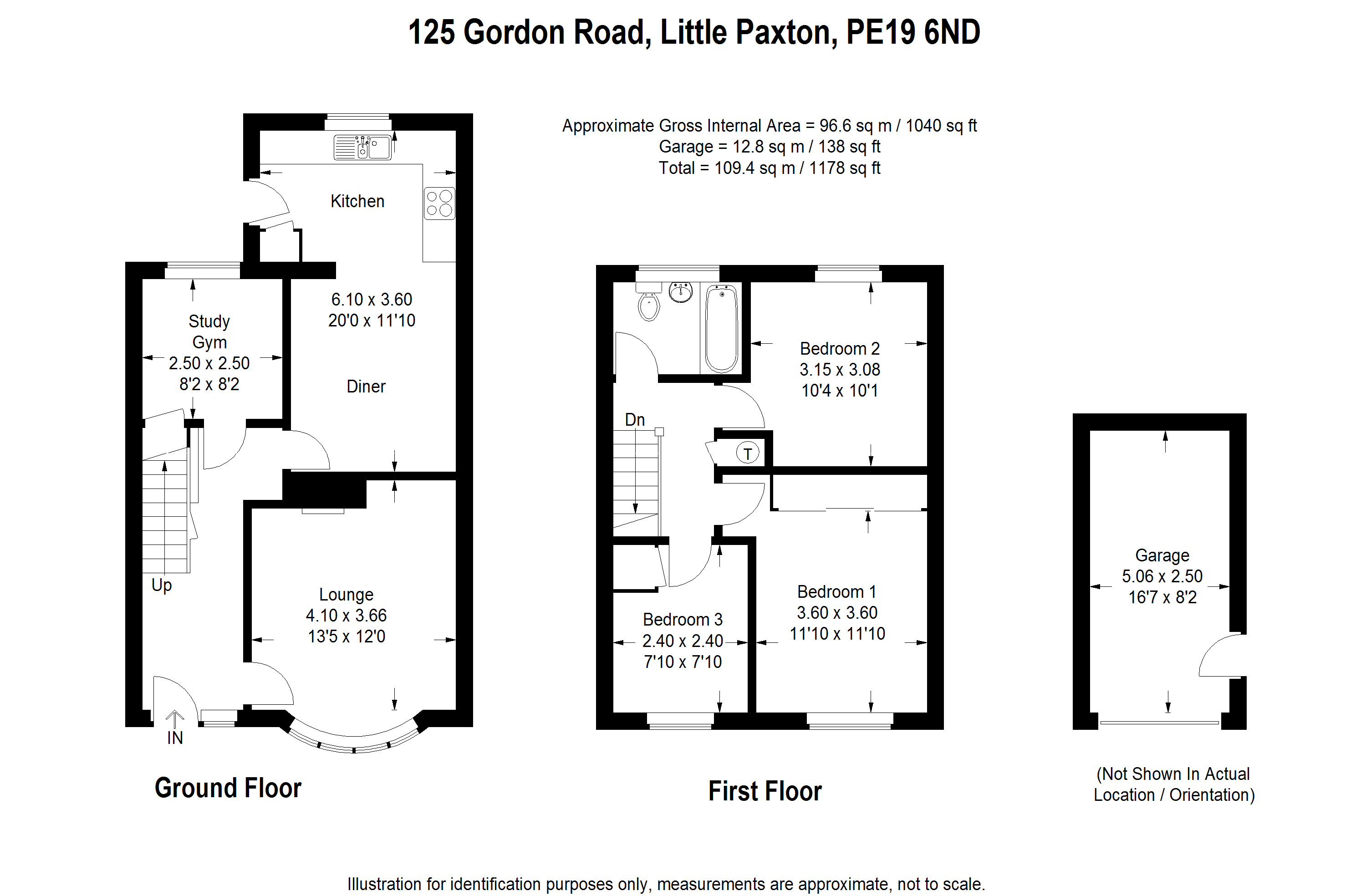 3 bed house for sale in Gordon Road, Little Paxton - Property Floorplan