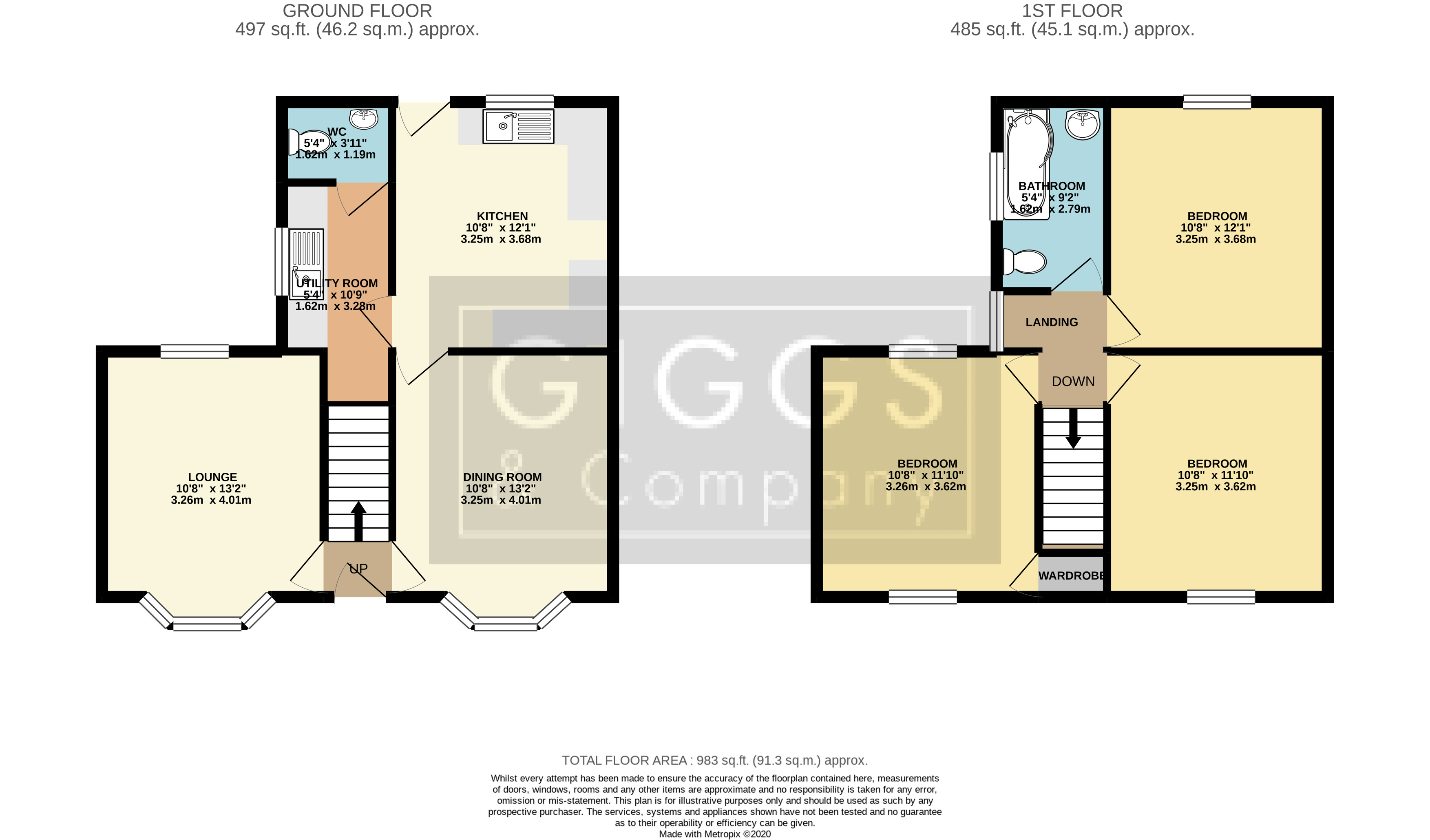 3 bed house for sale in Shaftesbury Avenue, St. Neots - Property Floorplan