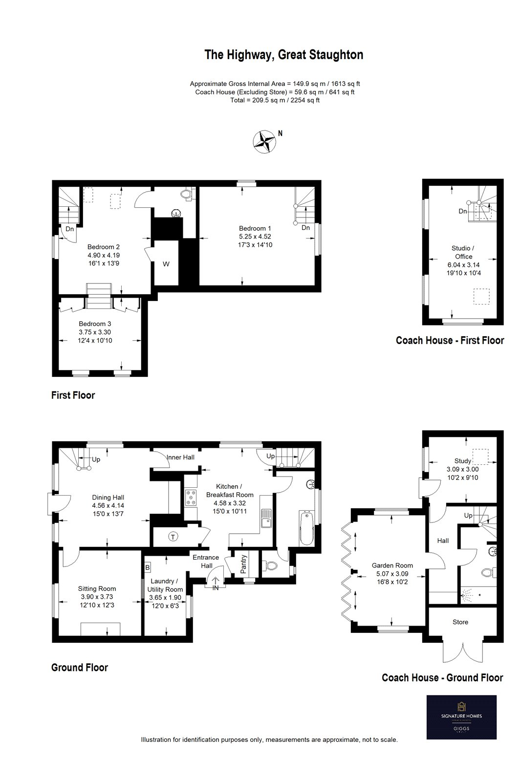3 bed house for sale in Great Staughton - Property Floorplan