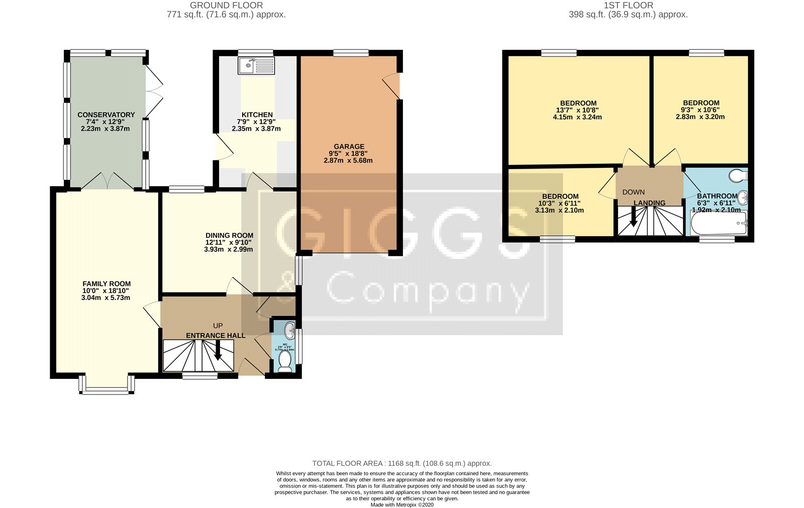 3 bed house for sale in Axis Way, Eaton Socon - Property Floorplan