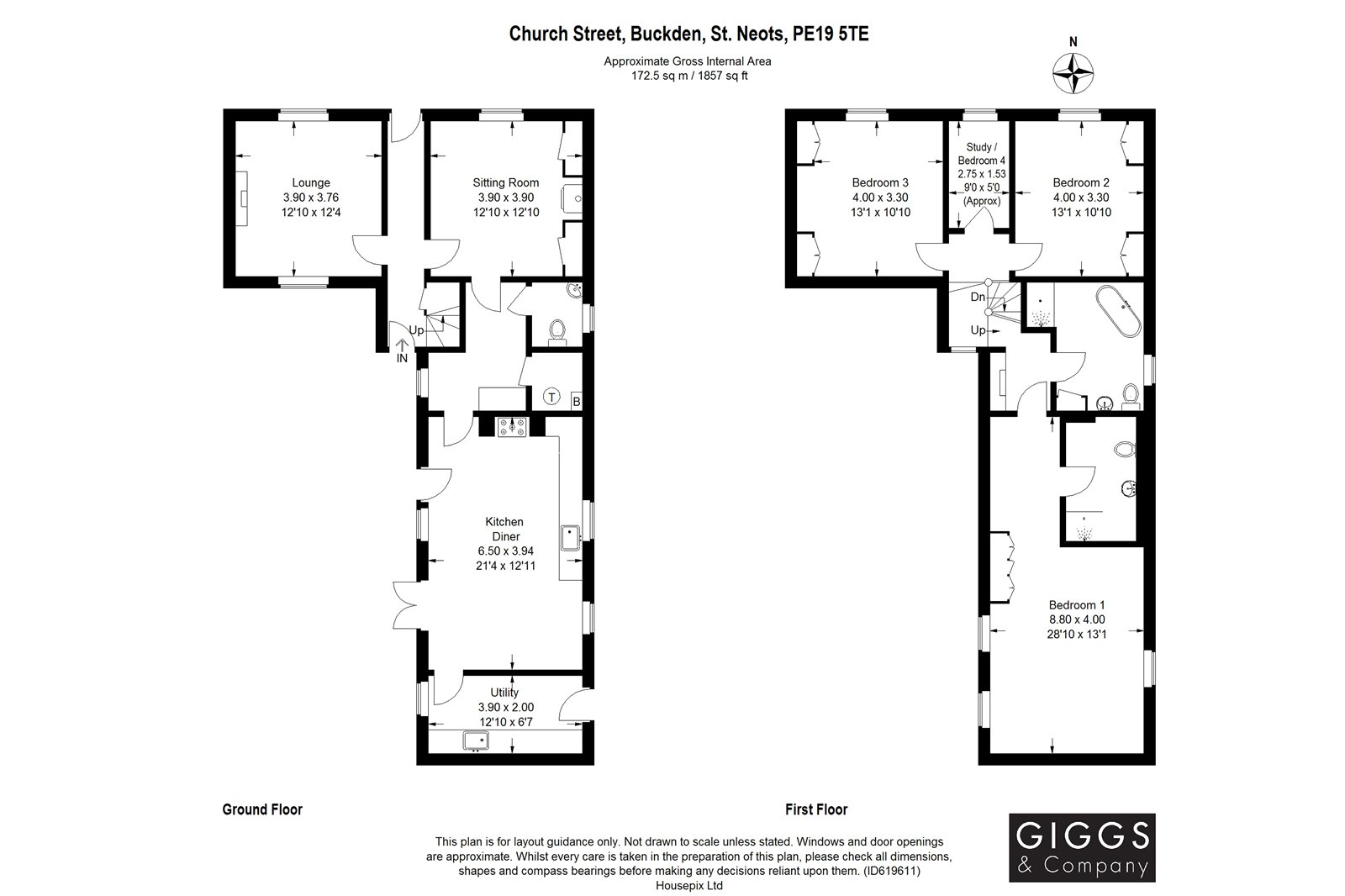 4 bed house for sale in Buckden - Property Floorplan