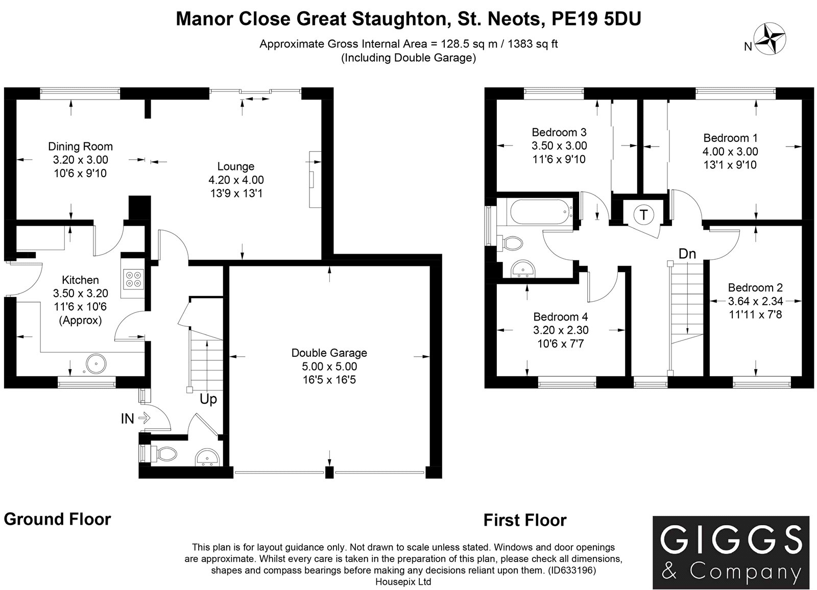 4 bed house for sale in Manor Close, Great Staughton - Property Floorplan