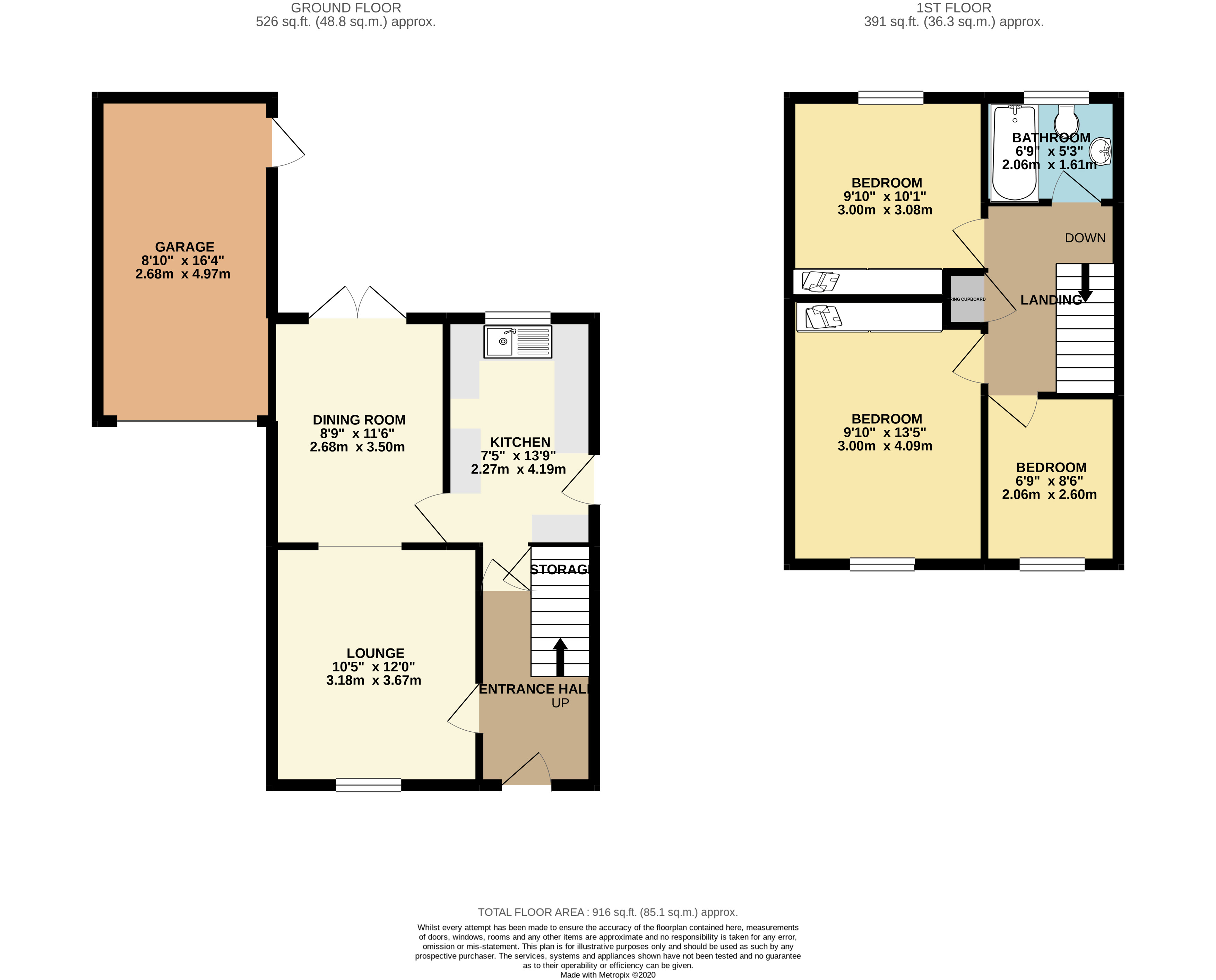3 bed house for sale in Farm Close, Wyboston - Property Floorplan
