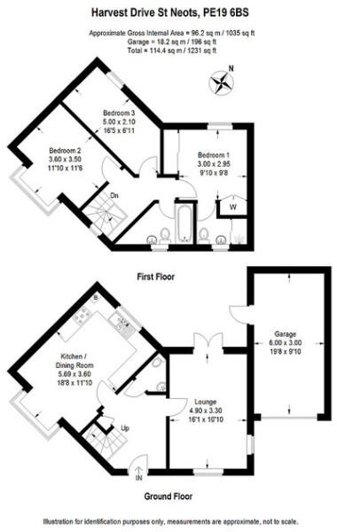 3 bed house for sale in Harvest Drive, St Neots - Property Floorplan