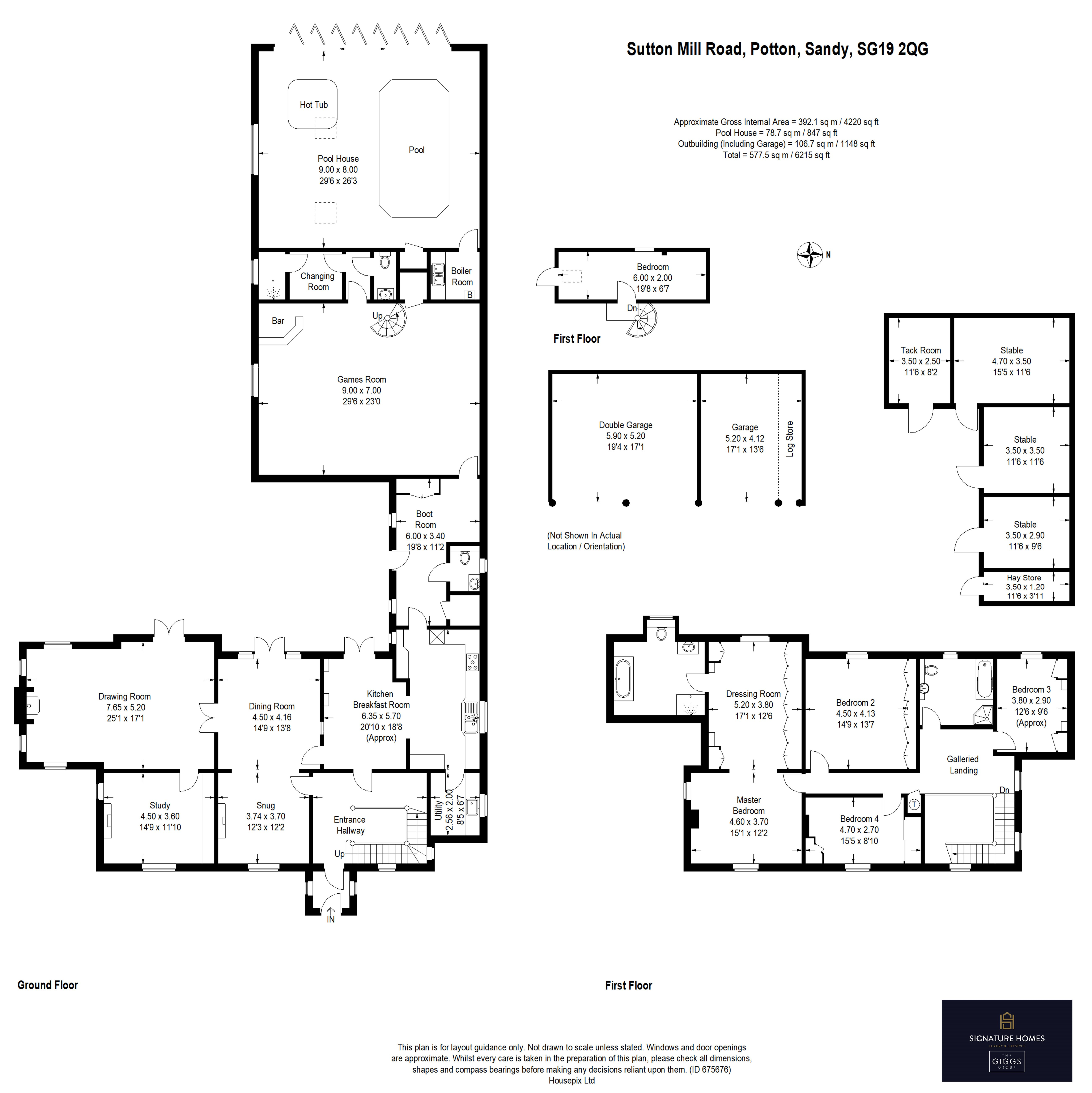 4 bed house for sale in Potton, SG19 2QG - Property Floorplan