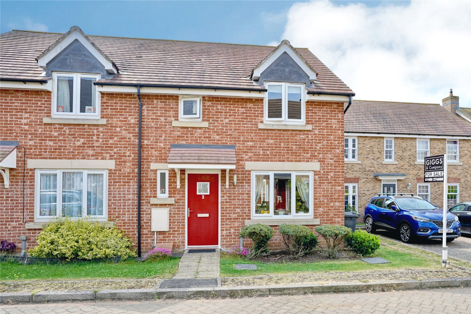 3 bed semi-detached house for sale in Middle Ground, St. Neots - Property Image 1