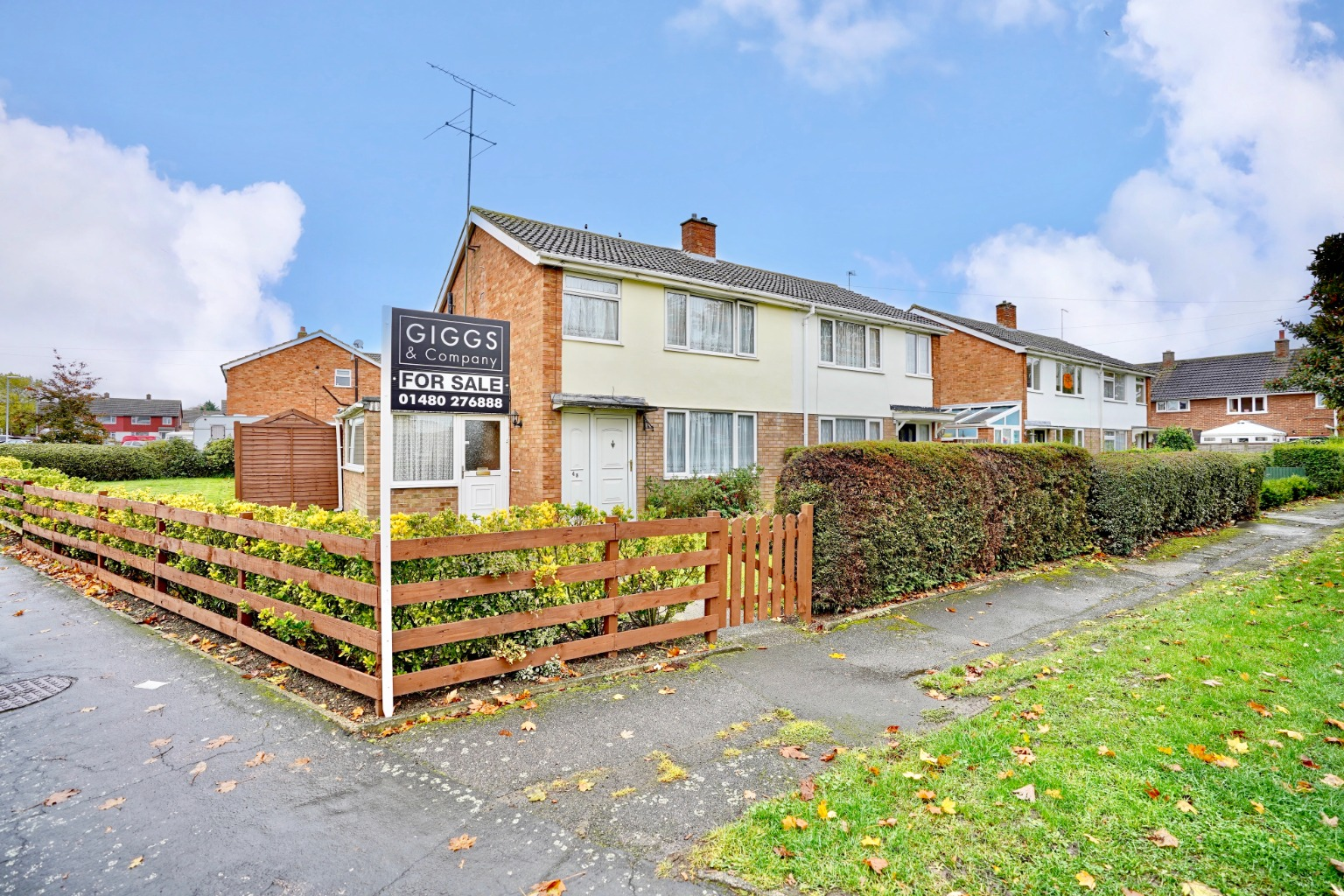 3 bed semi-detached house for sale in Princes Drive, St. Neots - Property Image 1
