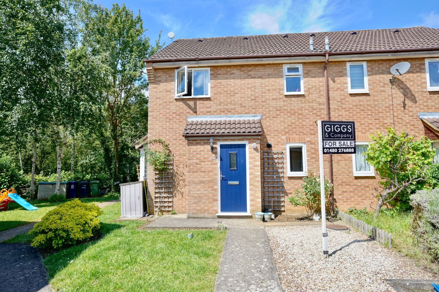 1 bed end of terrace house for sale in Cornwallis Drive, St. Neots  - Property Image 1