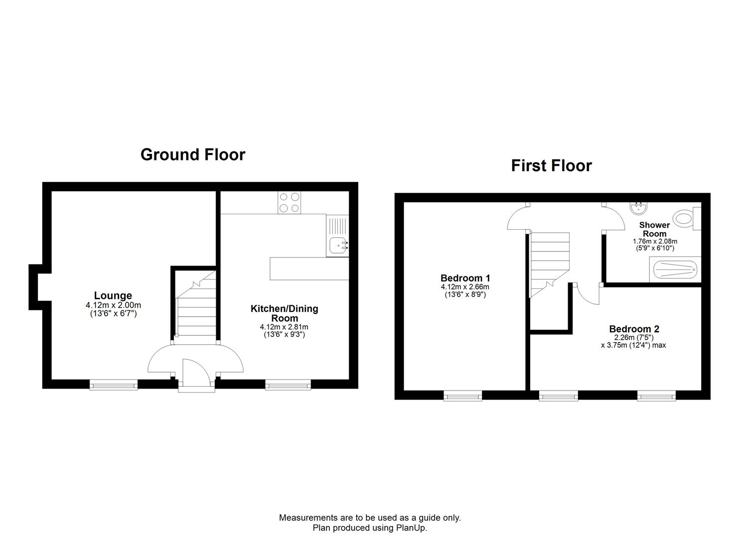 2 bed house to rent in Worrall Road, Bristol - Property Floorplan
