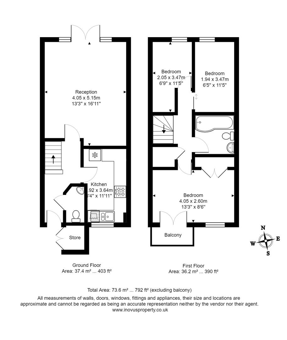 3 bed house for sale in Dirac Road, Bristol - Property Floorplan