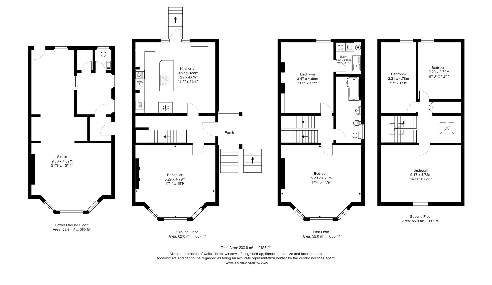 5 bed house for sale in All Saints Road, Bristol - Property Floorplan