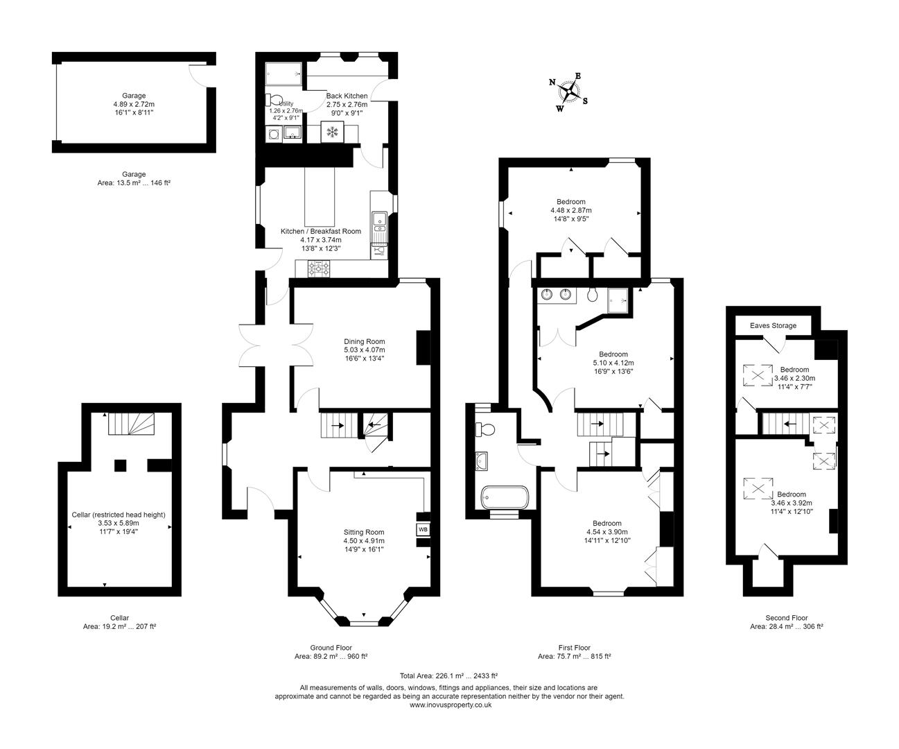 5 bed house for sale in Arley Hill, Bristol - Property Floorplan